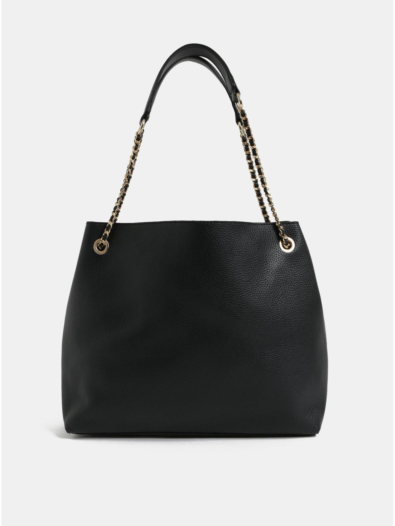 Černá kabelka s detaily ve zlaté barvě Miss Selfridge 4dd5328efe