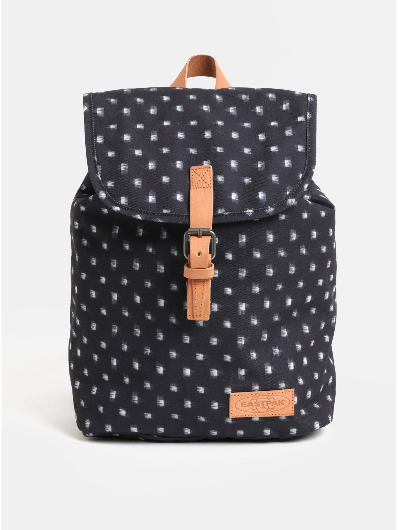 Tmavě šedý dámský vzorovaný batoh s koženými detaily Eastpak Aminimal 10.5 l