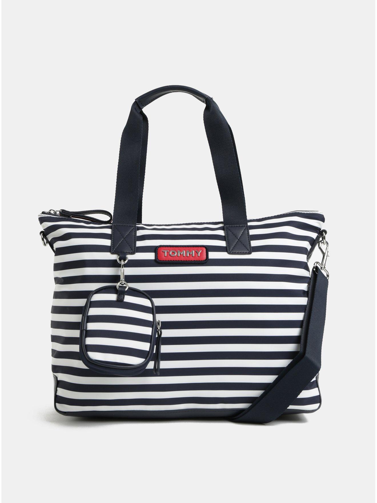 Bílo-modrá pruhovaná kabelka s odnímatelným pouzdrem Tommy Hilfiger 0733c2faea1