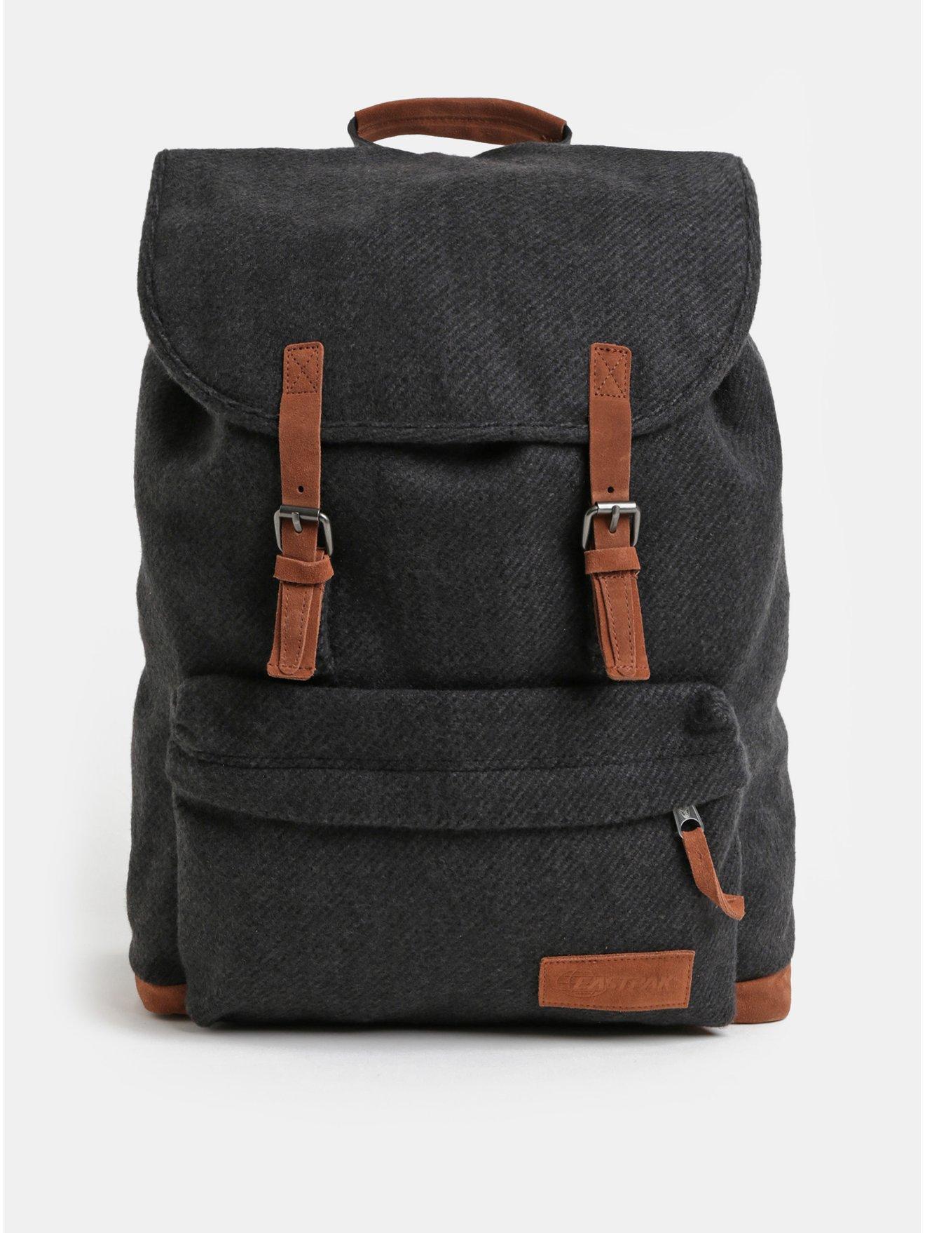 Tmavě šedý batoh se semišovými detaily Eastpak Fleather 21 l a5467d9e8d