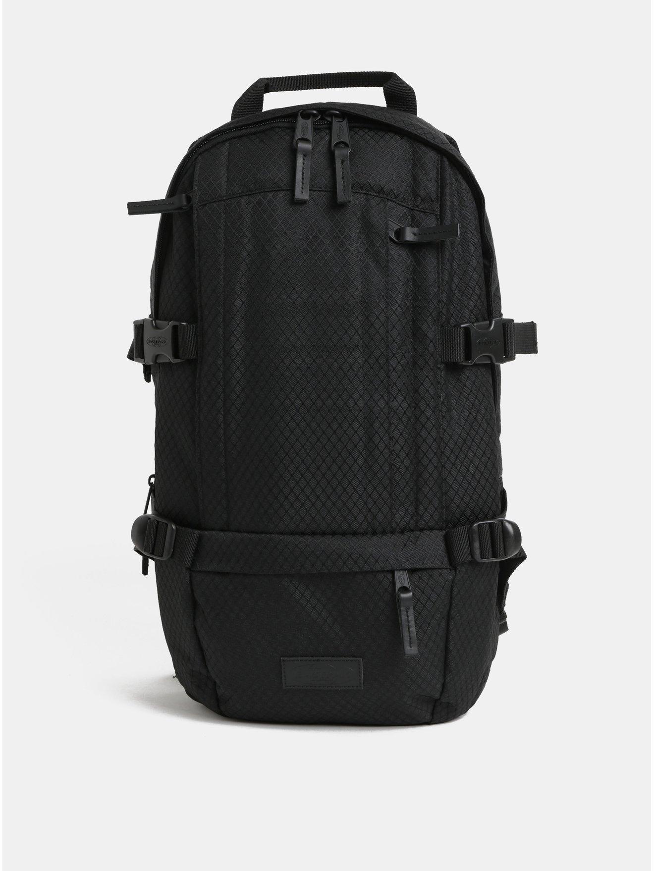 Černý pánský batoh s koženými detaily Eastpak Series 16 l 95ba4540e0