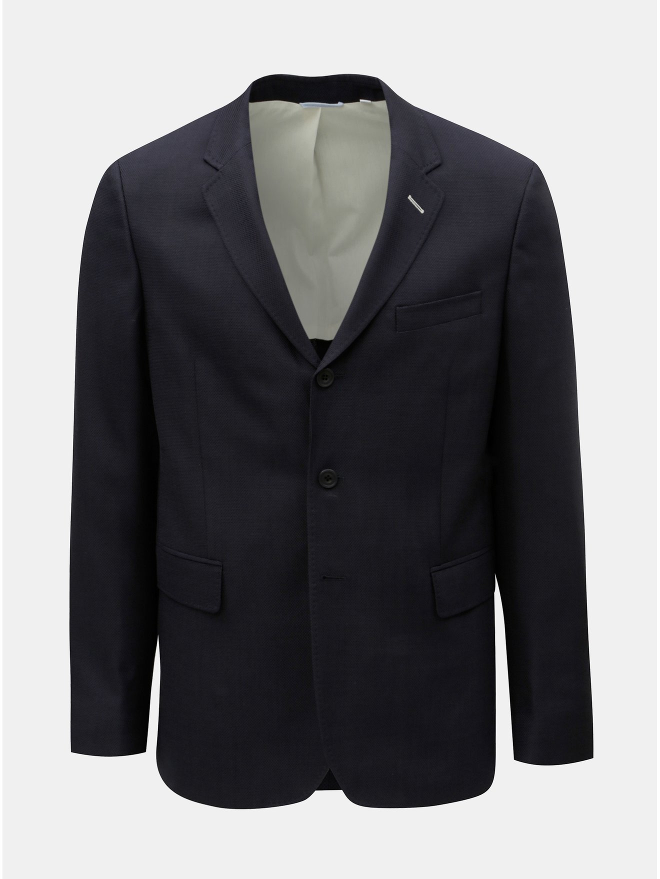 Fotografie Tmavě modré pánské sako s příměsí vlny GANT Rugger