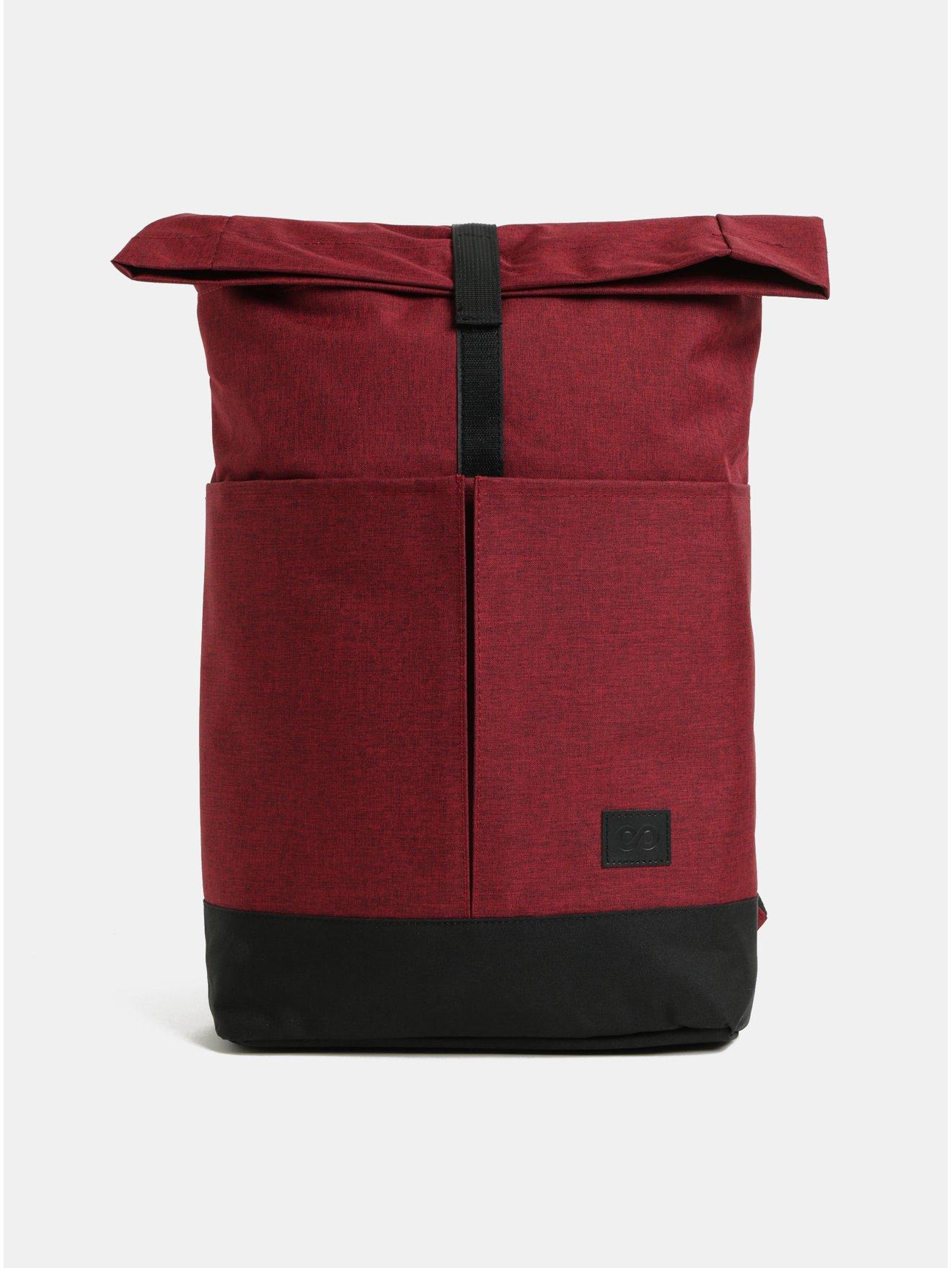 Vínový žíhaný batoh ZOOT 631aabe894