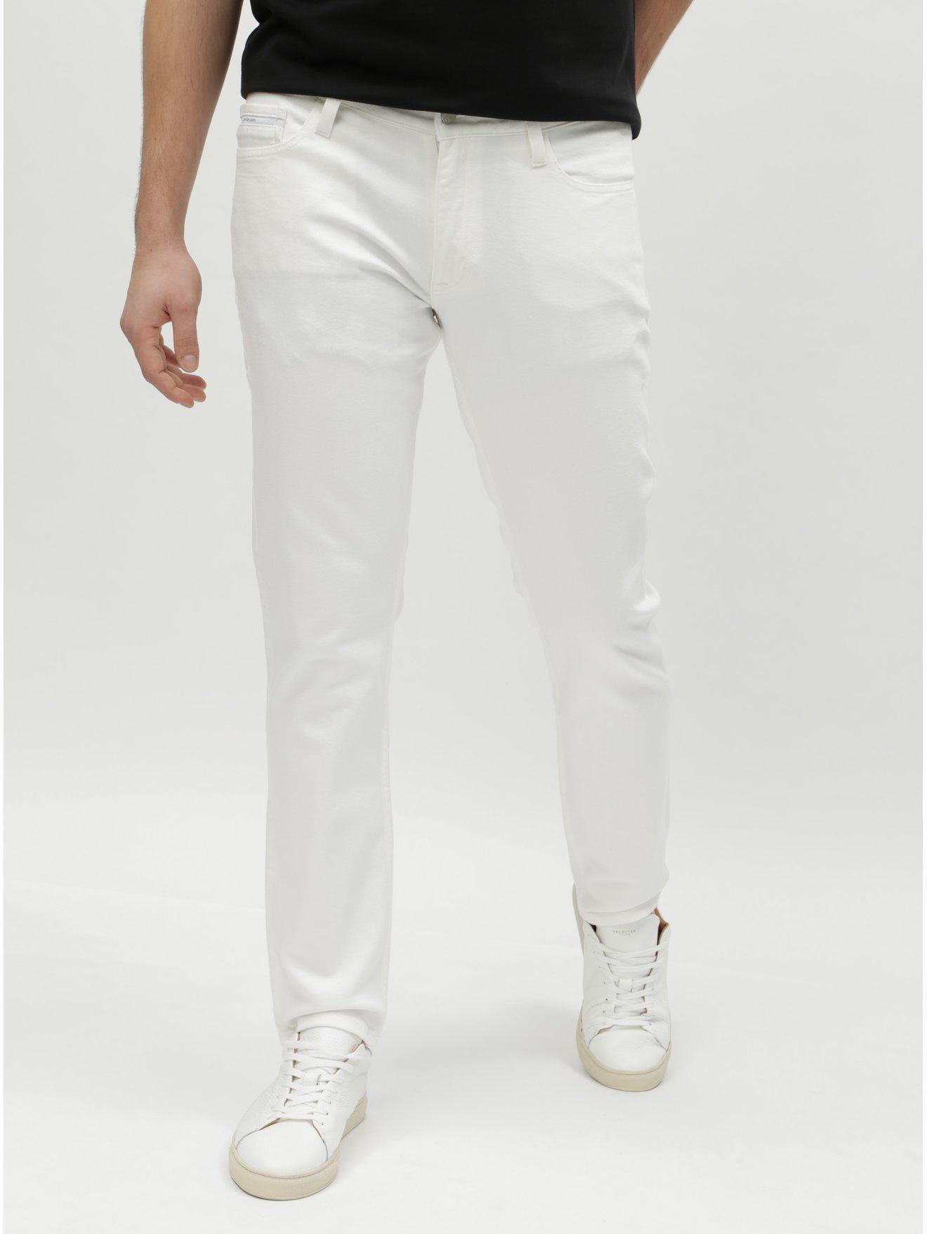 Bílé pánské slim straight džíny Calvin Klein Jeans dd2dc262de