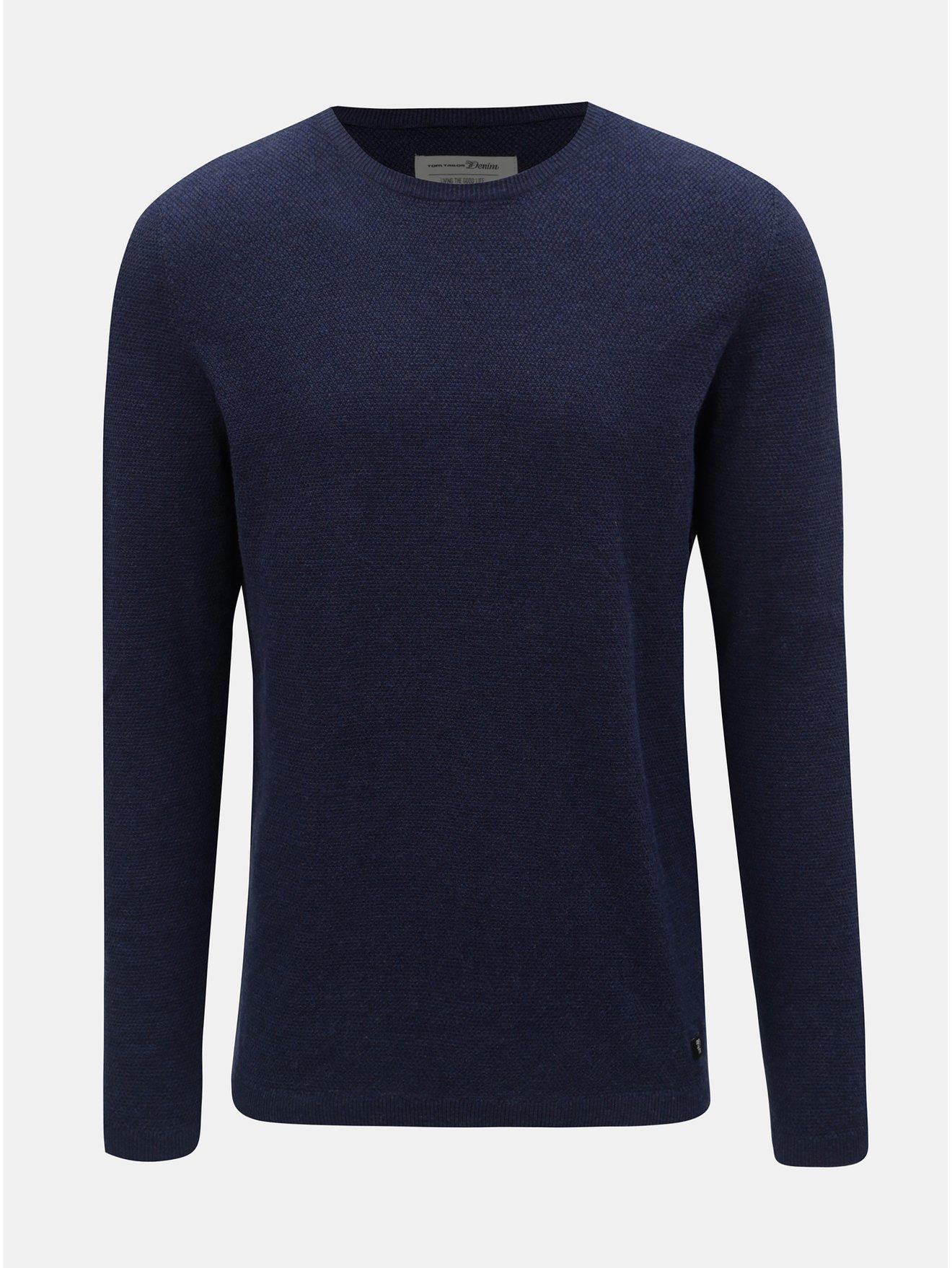 Tmavě modrý pánský lehký svetr Tom Tailor Denim