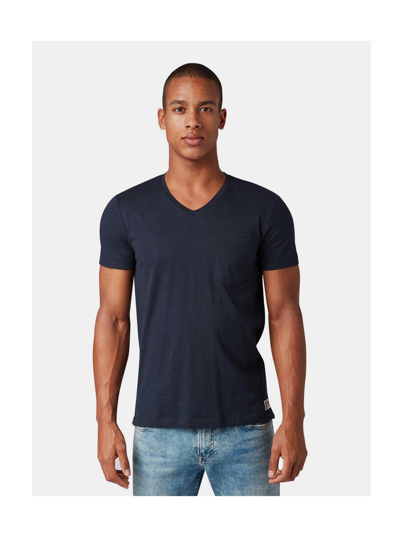 Tmavě modré pánské tričko s náprsní kapsou Tom Tailor Denim