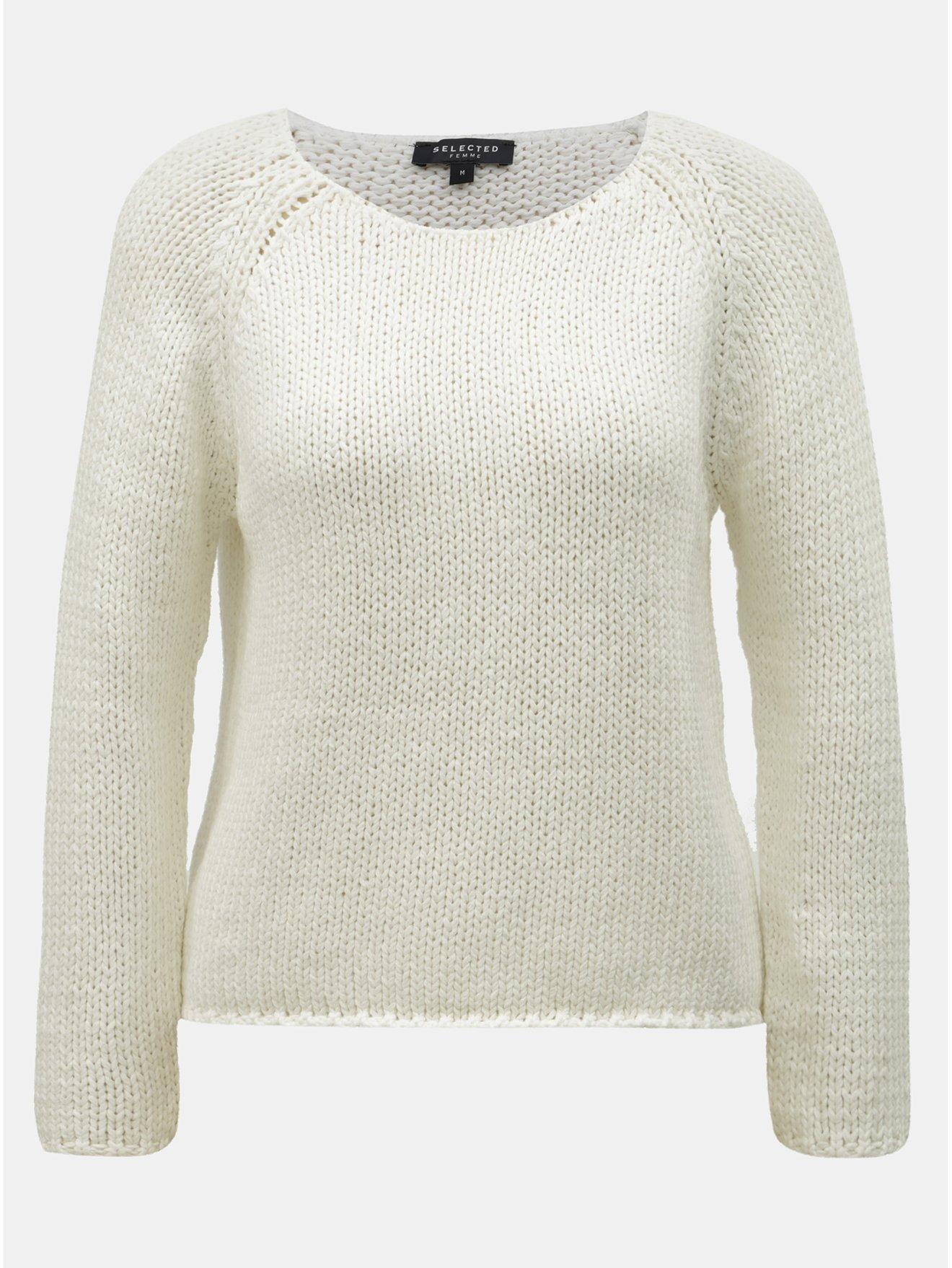 Bílý svetr Selected Femme Olga