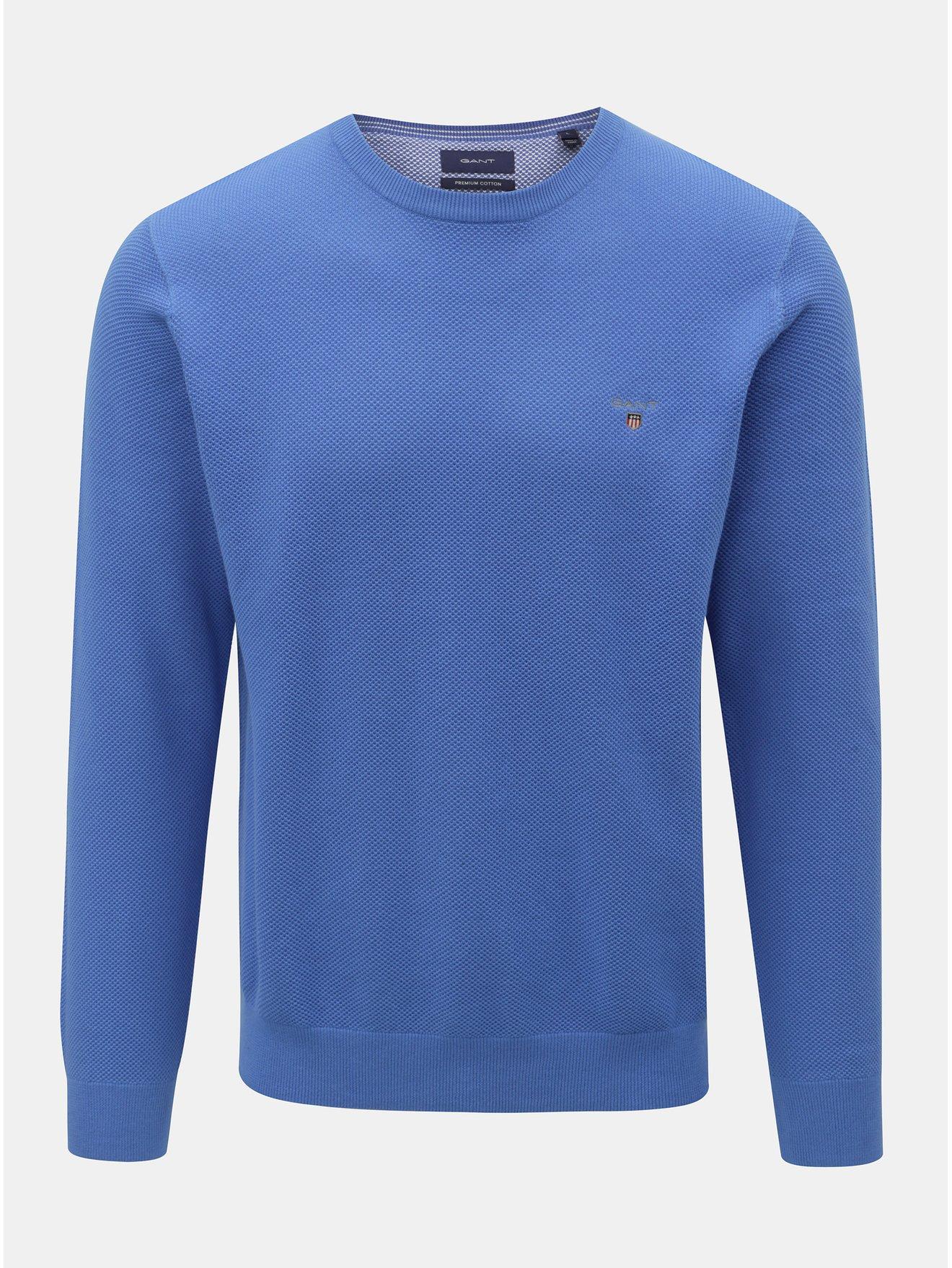 Modrý pánský svetr GANT