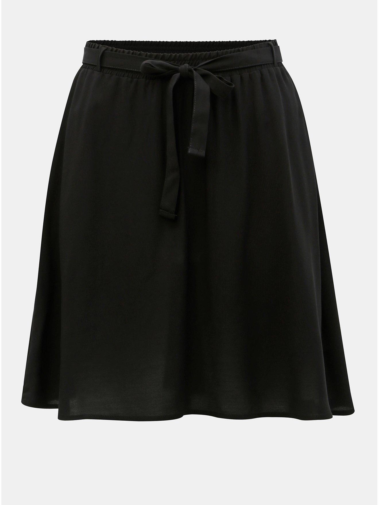 Černá sukně se zavazováním VERO MODA Boca