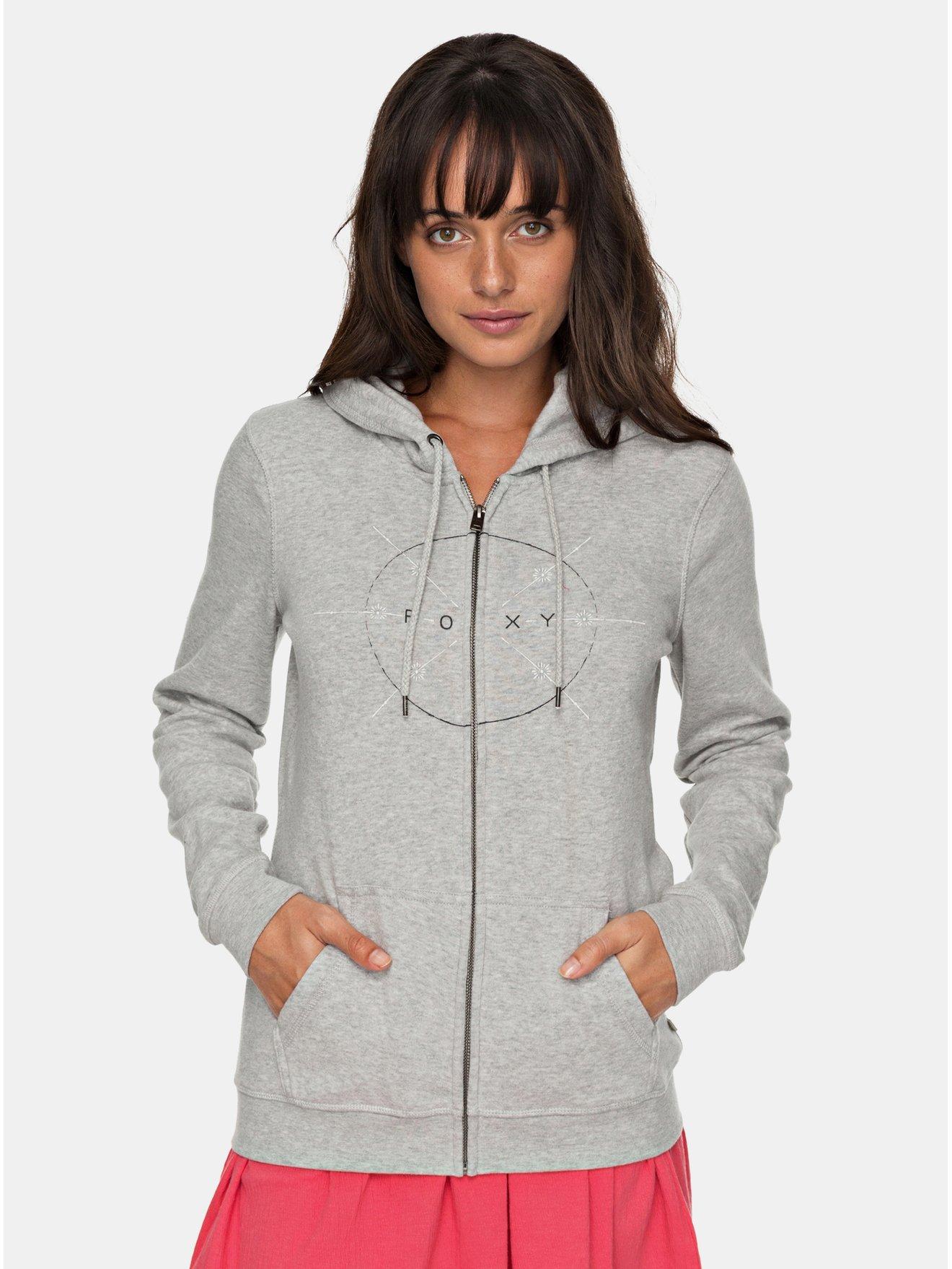 Světle šedá dámská mikina na zip Roxy Full of Joy
