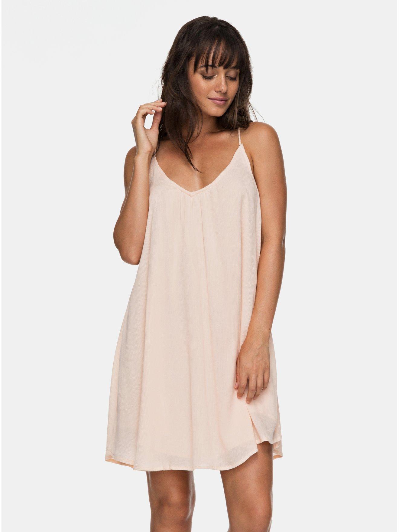 74d591ffc1e1 Světle růžové šaty na tenká ramínka Roxy Great Intentions