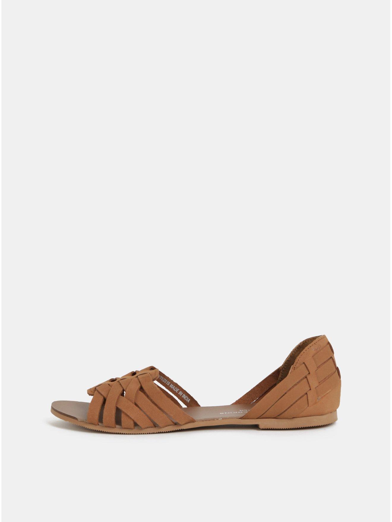 dd80bdbb73dc Hnědé kožené sandály Dorothy Perkins