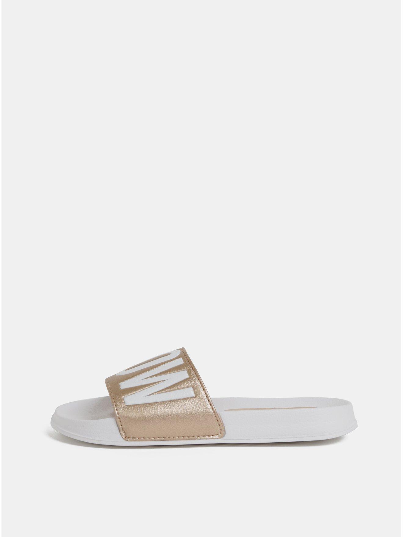 Dámské pantofle ve zlato-bílé barvě Tom Tailor Denim