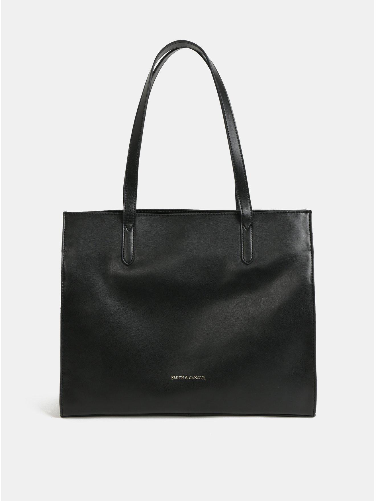 Černá kožená kabelka Smith & Canova Maral
