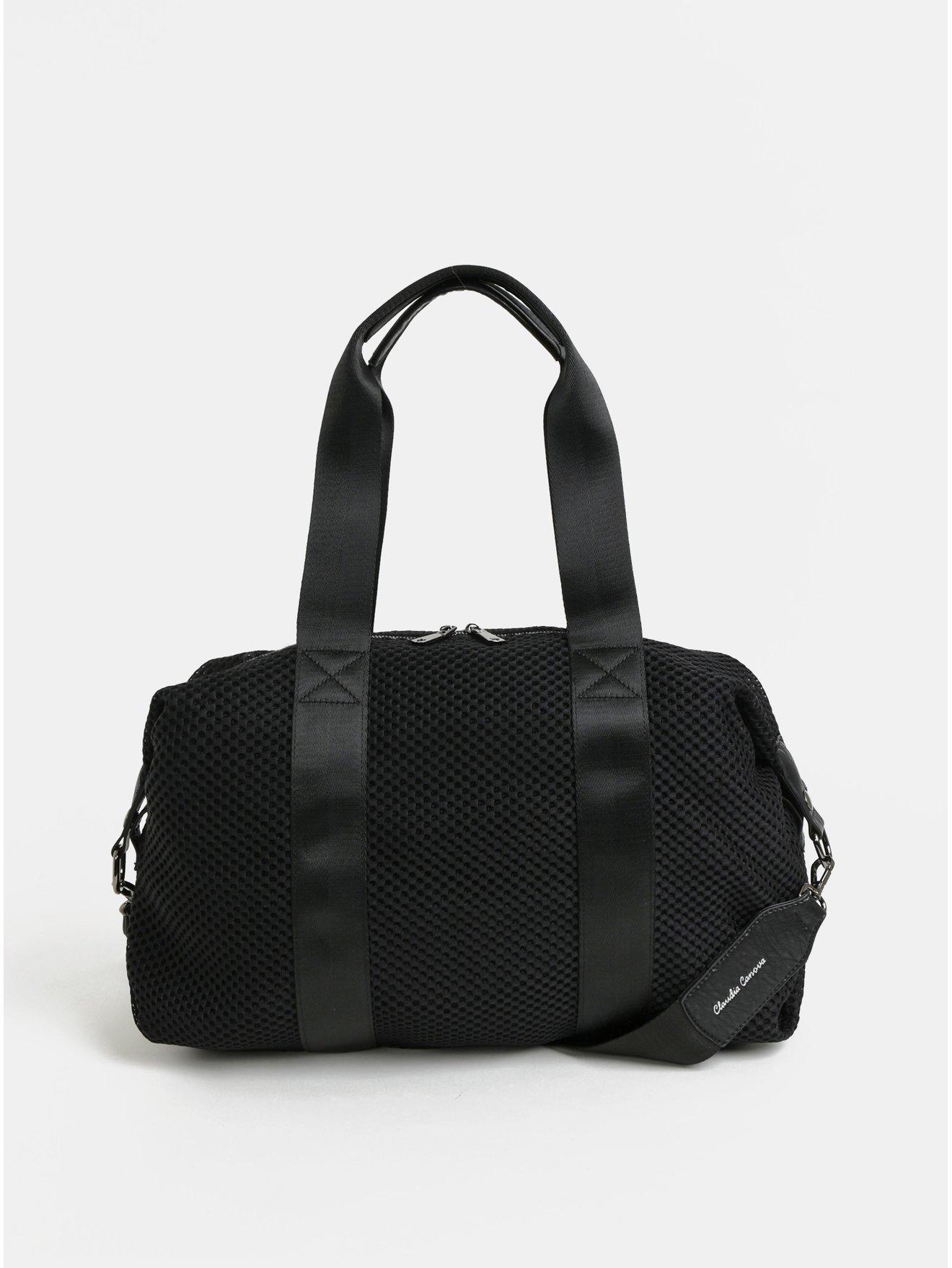 Černá taška s kapsou na notebook Claudia Canova Zuria