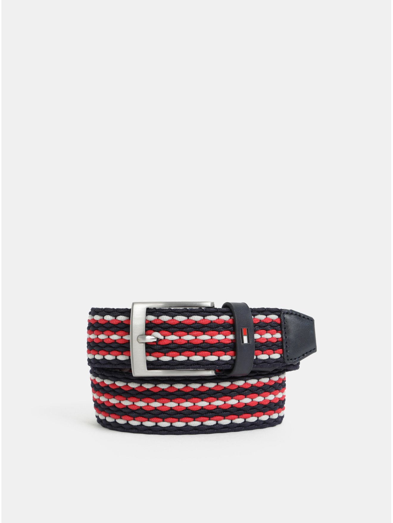 Červeno-černý pánský pásek Tommy Hilfiger