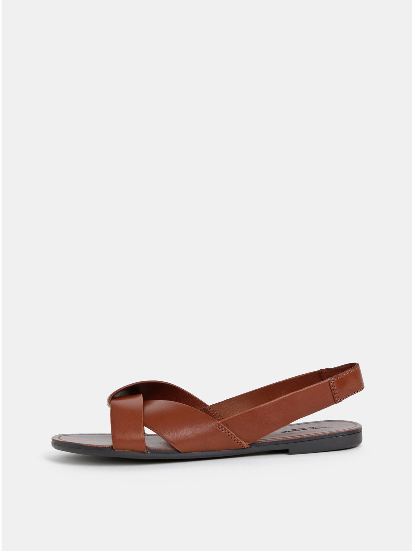 7b291ebead13 Hnědé dámské kožené sandály Vagabond Tia