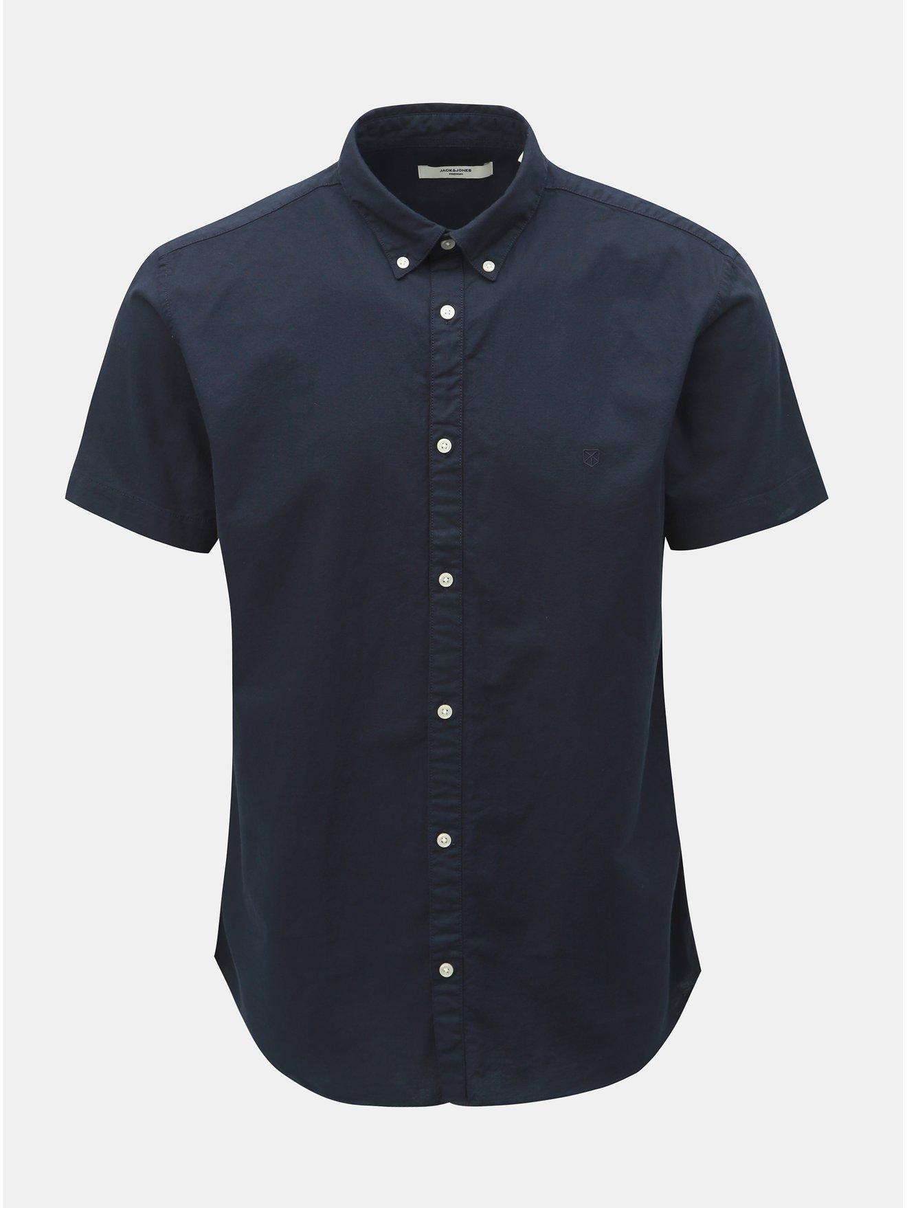 Tmavě modrá slim fit košile Jack & Jones Logo