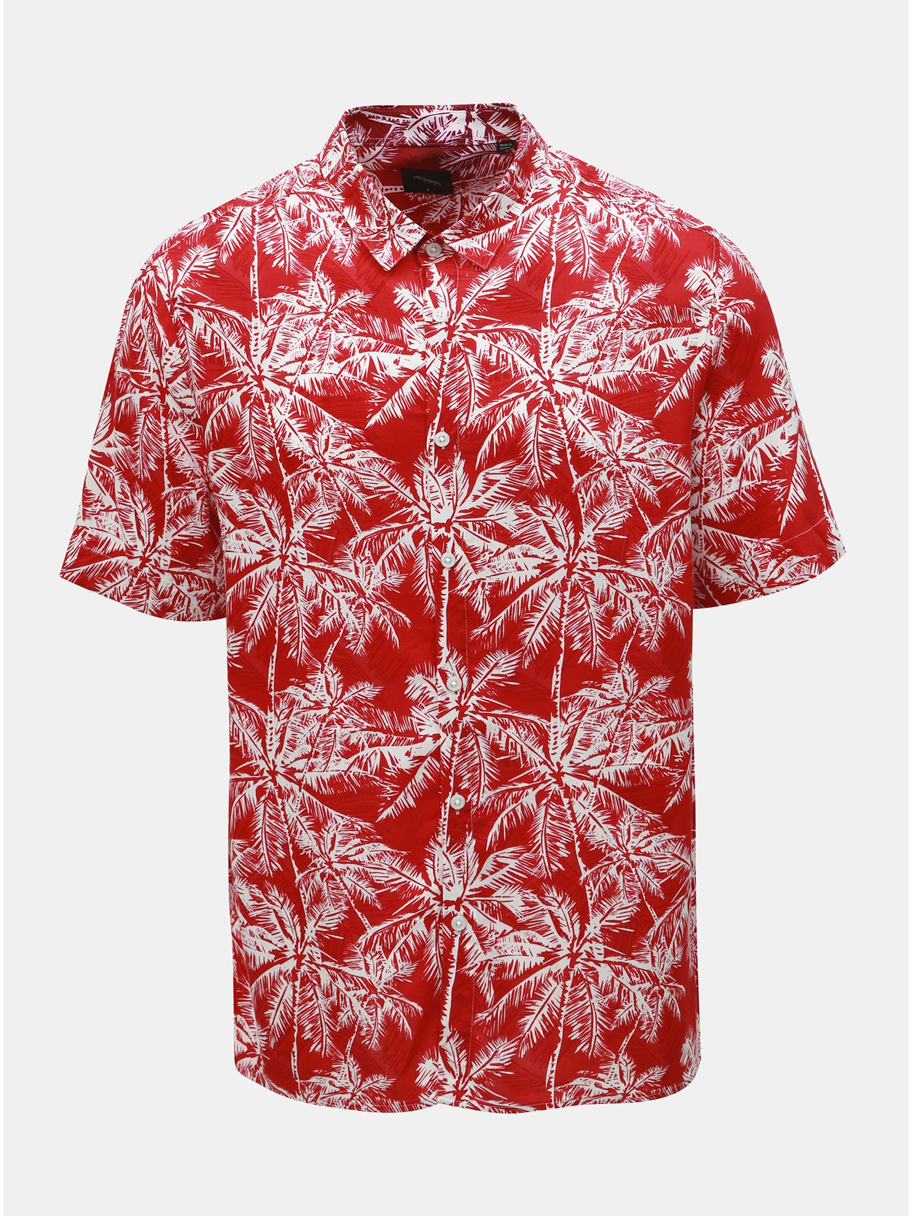 Červená vzorovaná košile Burton Menswear London