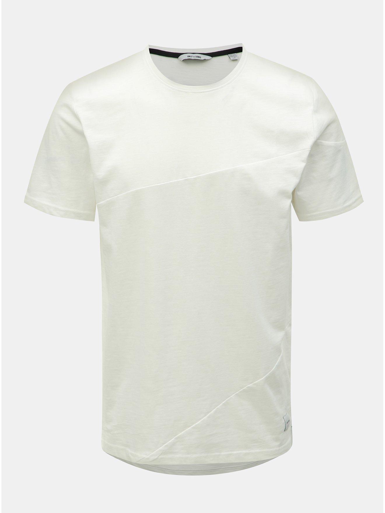 Bílé tričko ONLY & SONS Larson