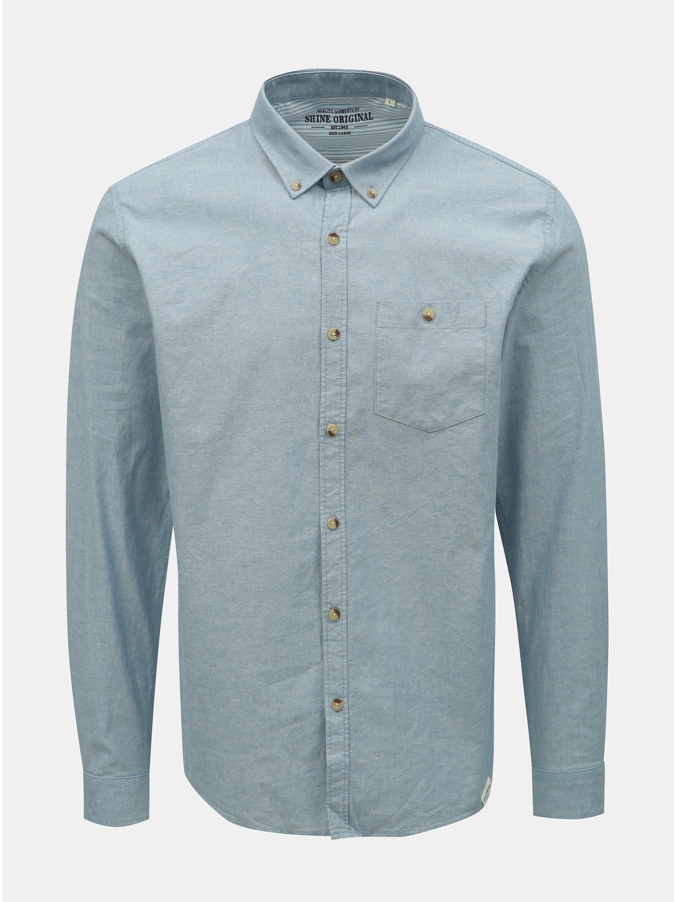 Světle modrá košile Shine Original