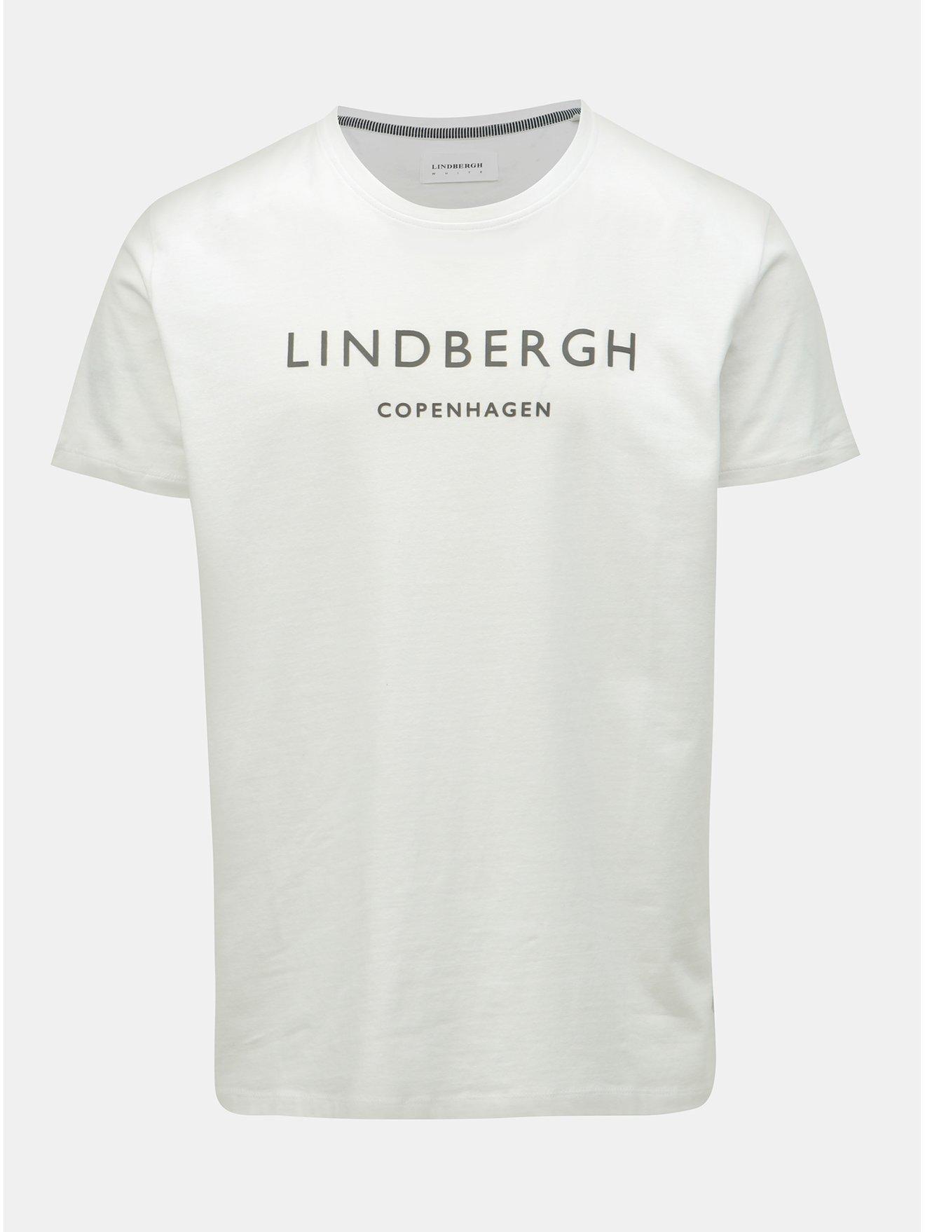 Bílé tričko s potiskem Lindbergh