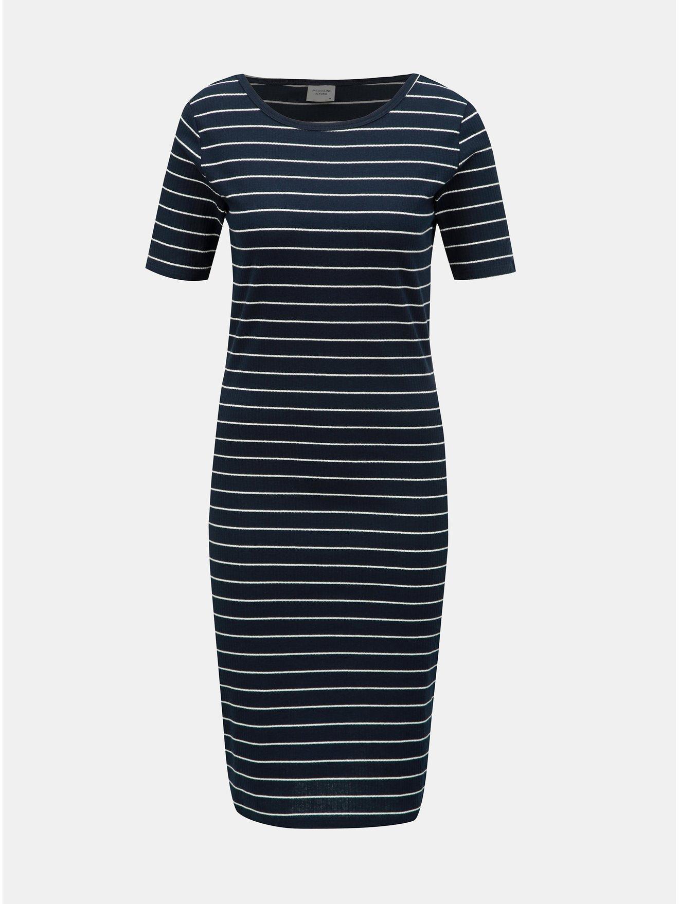 Modré pruhované šaty Jacqueline de Yong Nevada