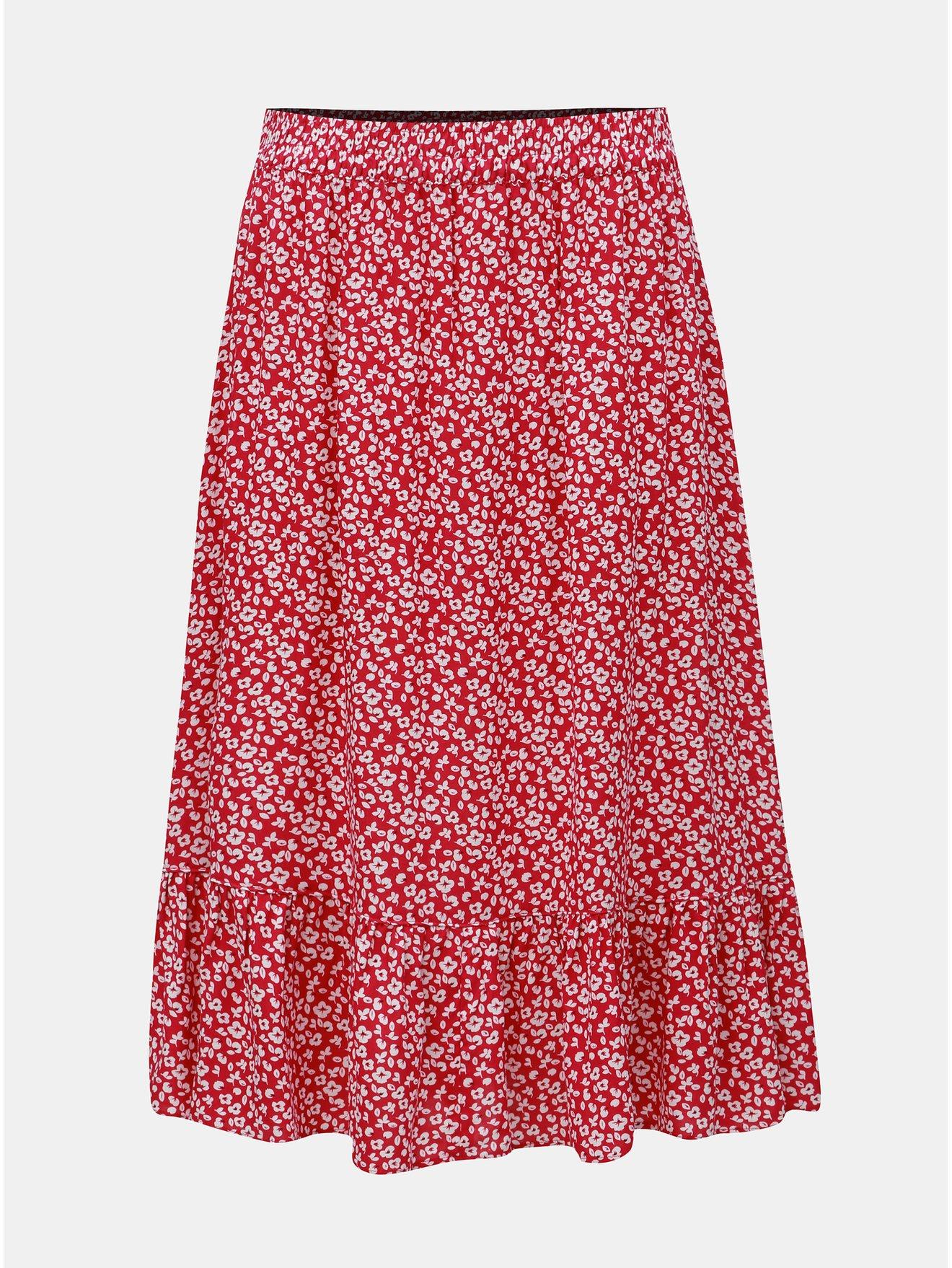 Růžová květovaná sukně Jacqueline de Yong Star Frill
