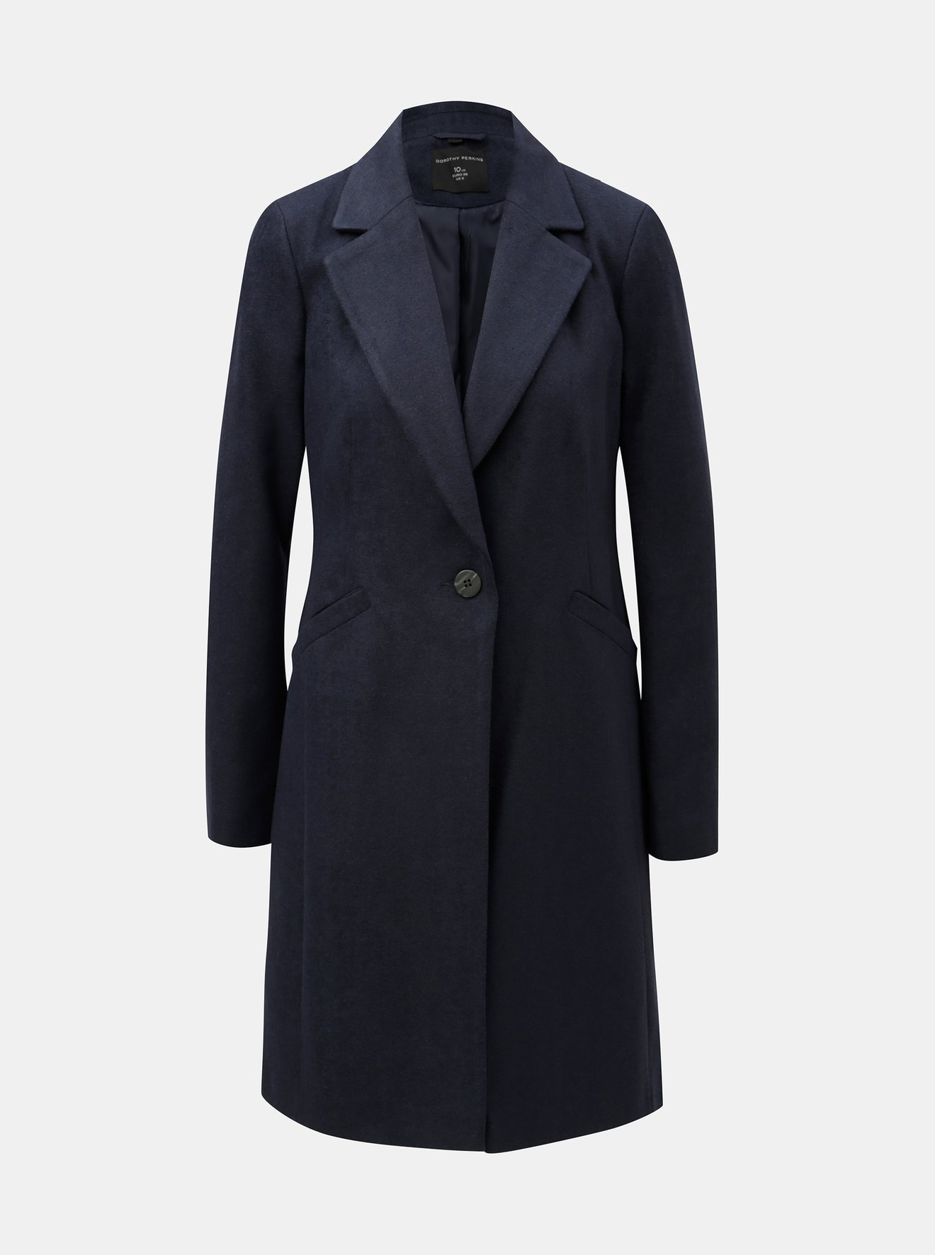 Tmavě modrý kabát Dorothy Perkins Lead