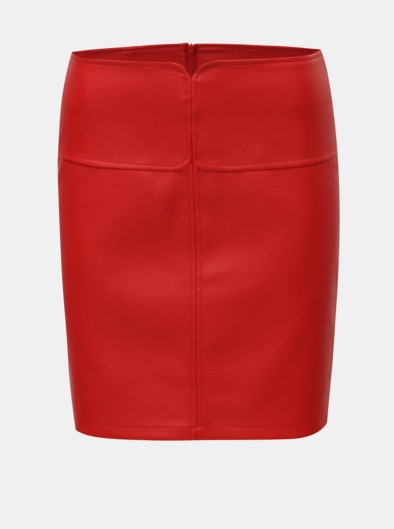 Červená koženková sukně Noisy May Allan