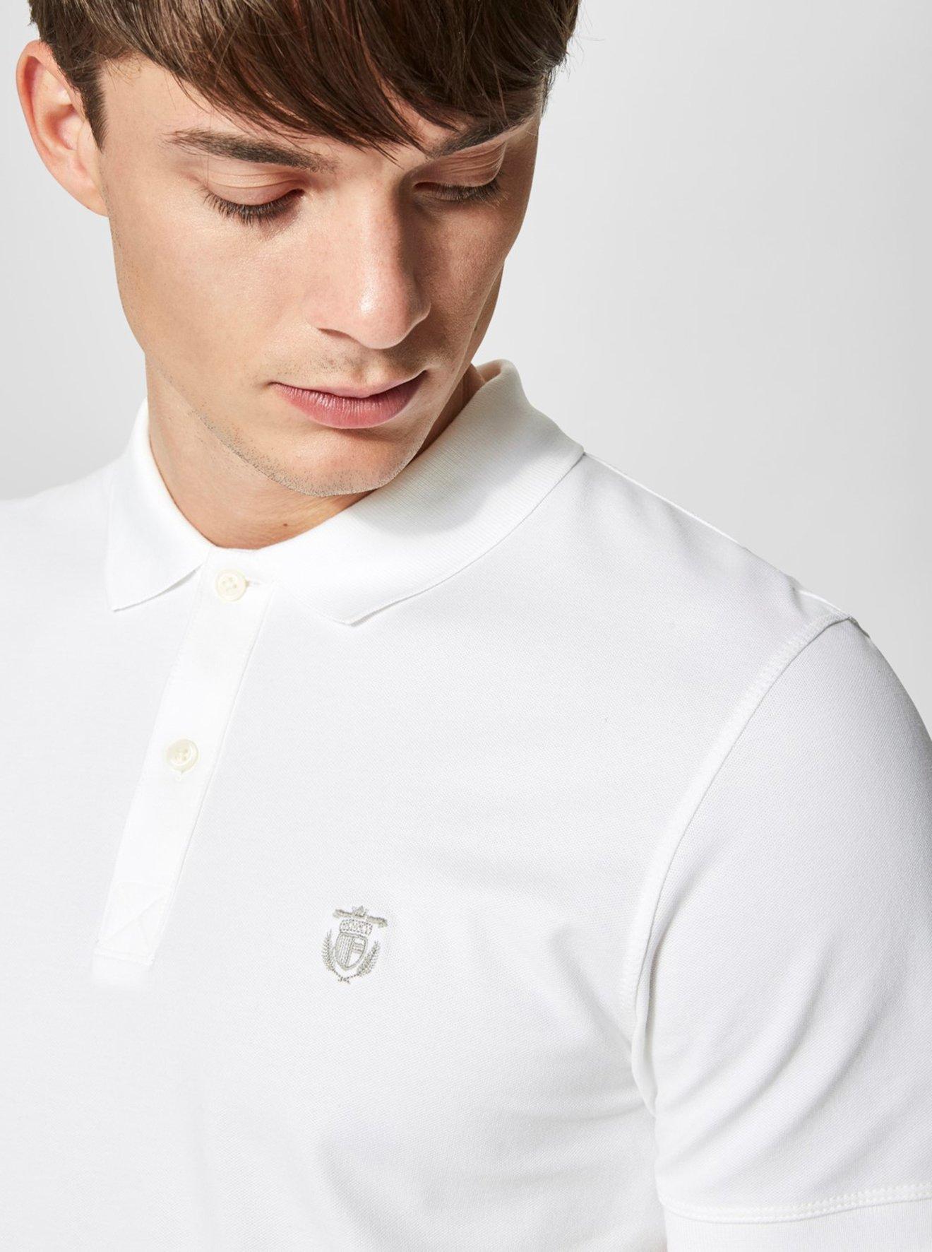Bílé polo tričko Selected Homme Haro