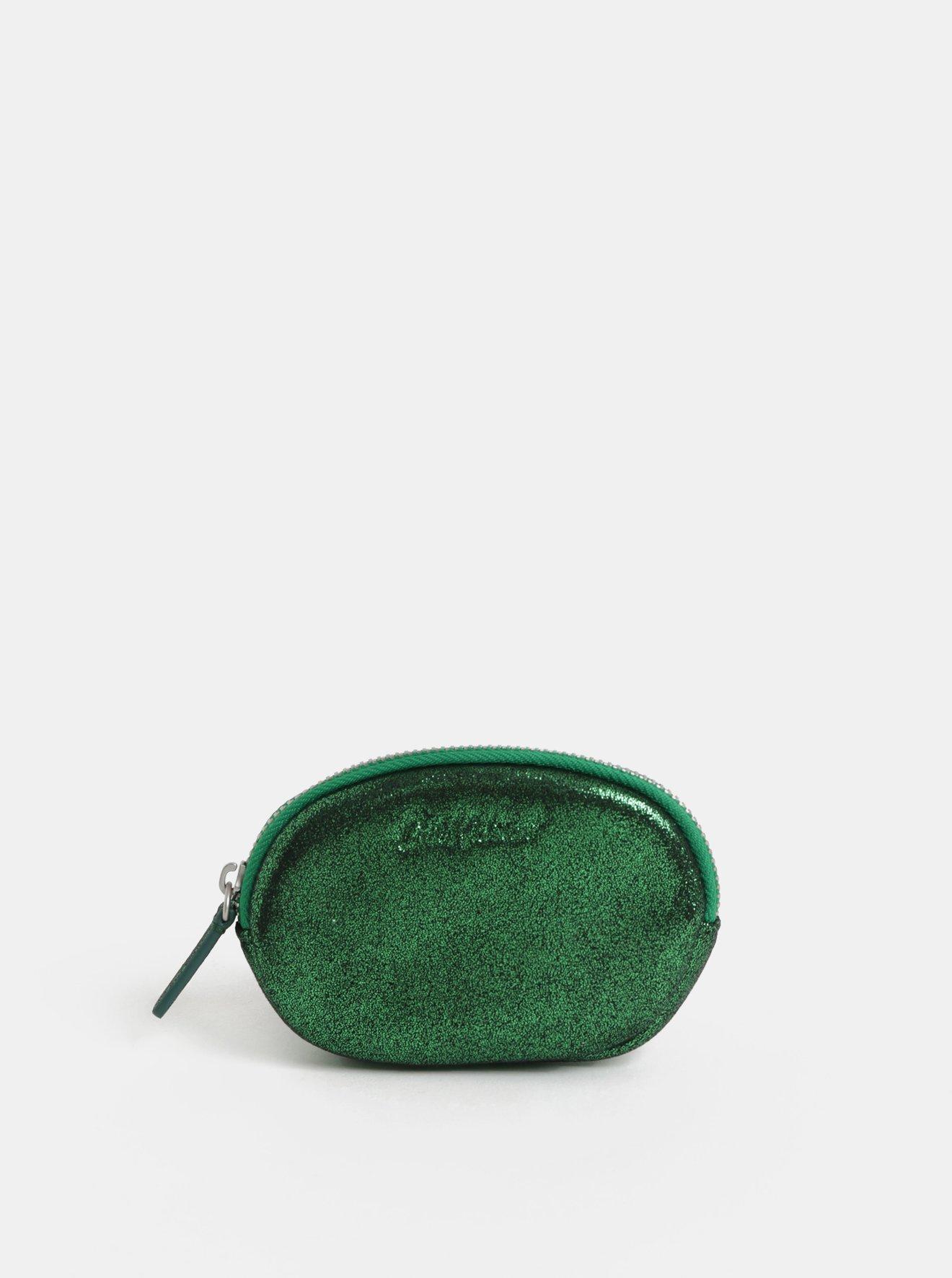 Zelená dámská třpytivá peněženka na mince Cath Kidston