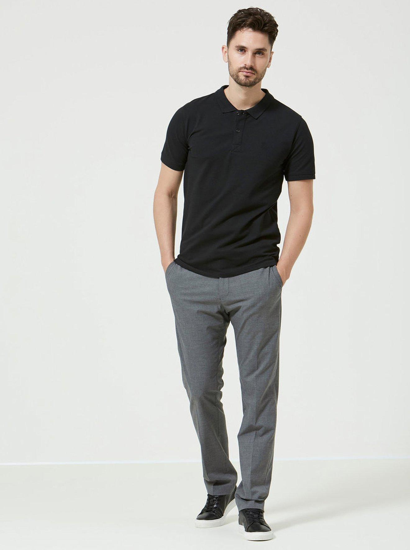 Černé polo tričko Selected Homme Haro