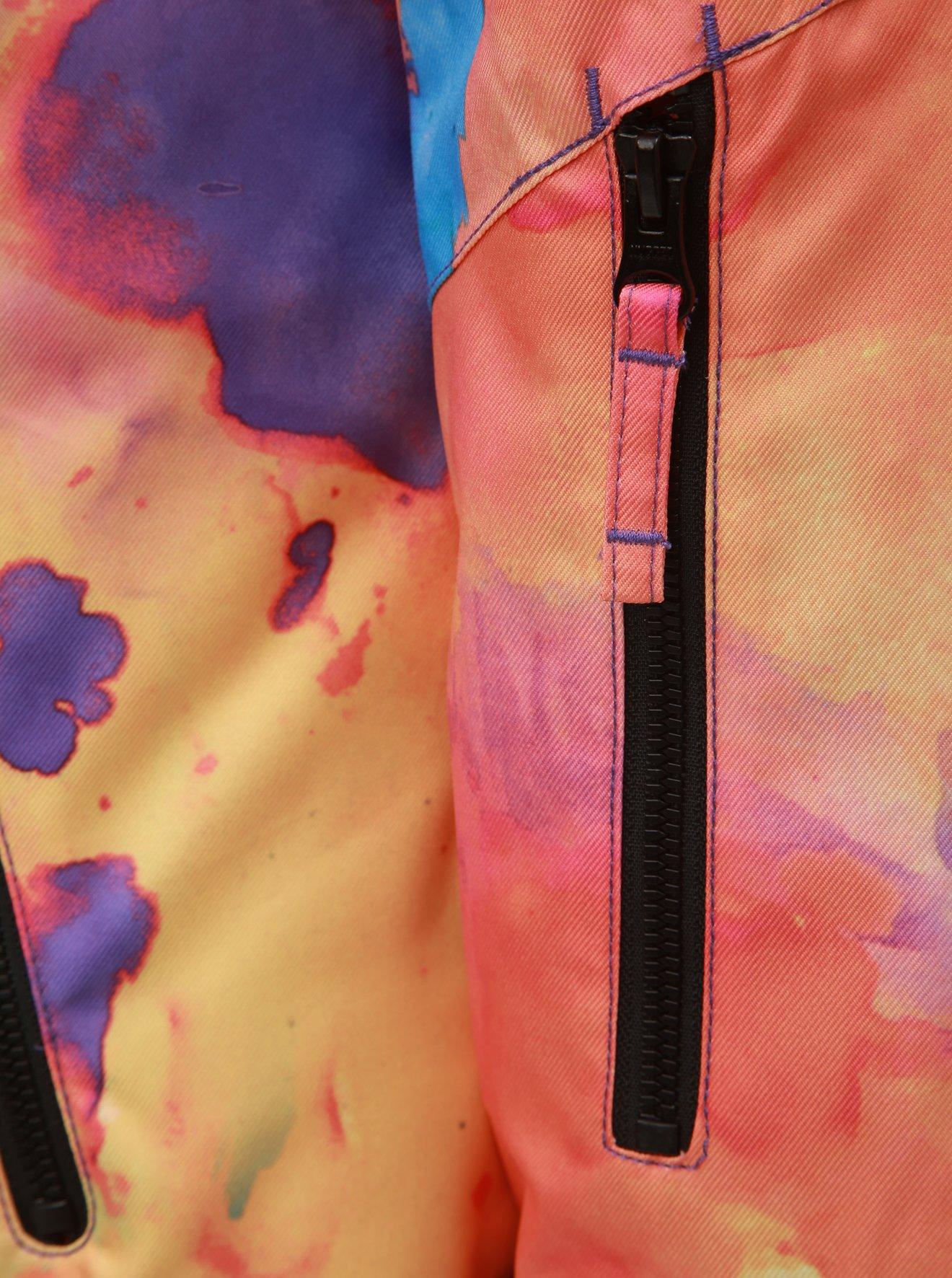 Růžovo-oranžová dámská voděodolná snowboardová bunda NUGGET Anja
