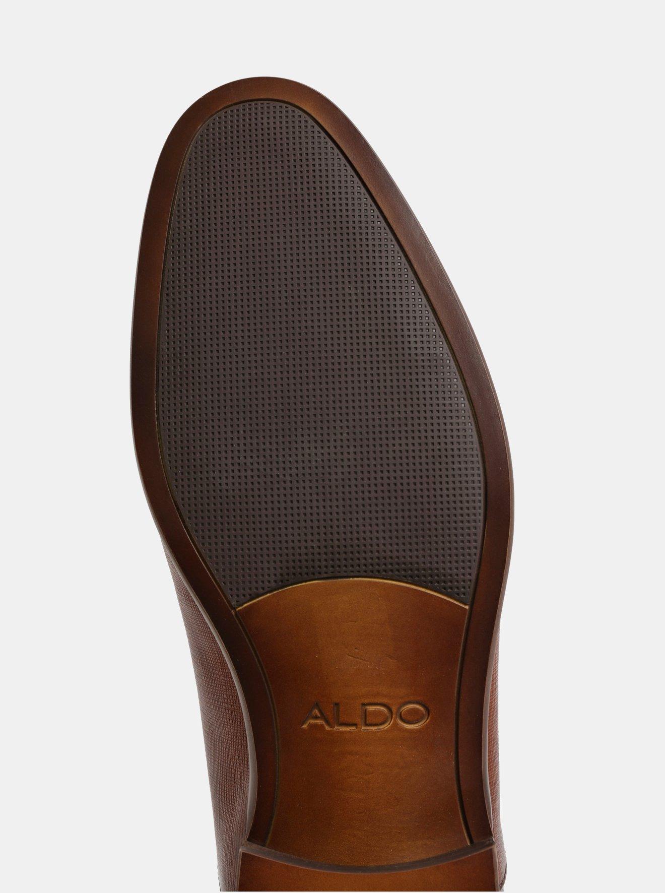 Hnědé pánské kožené polobotky ALDO Nyderadien