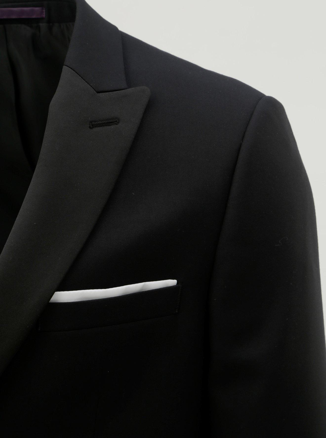 Černé oblekové slim fit sako Burton Menswear London