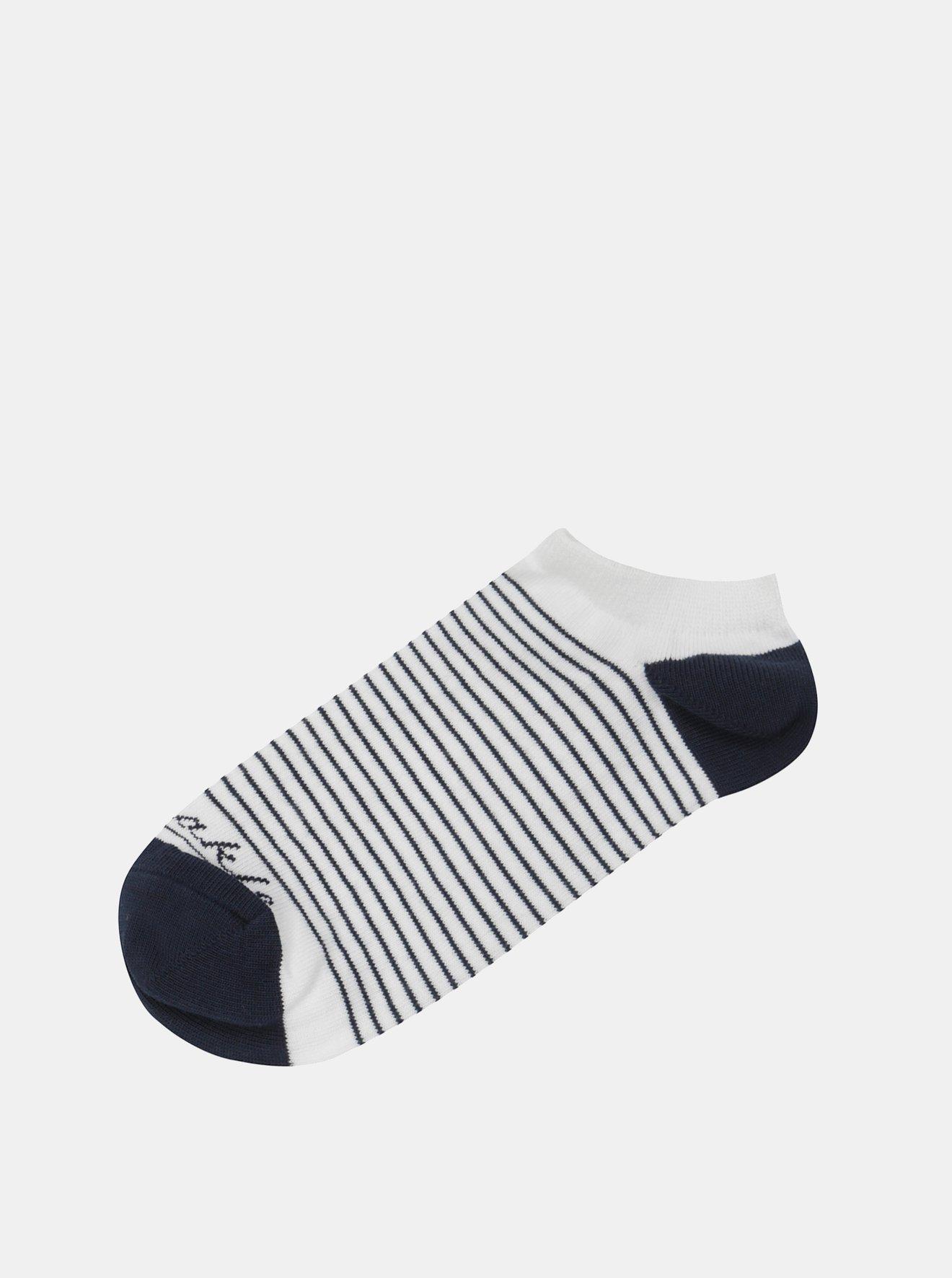 Modro-bílé kotníkové ponožky s pruhy Fusakle Pohoďák prímorský