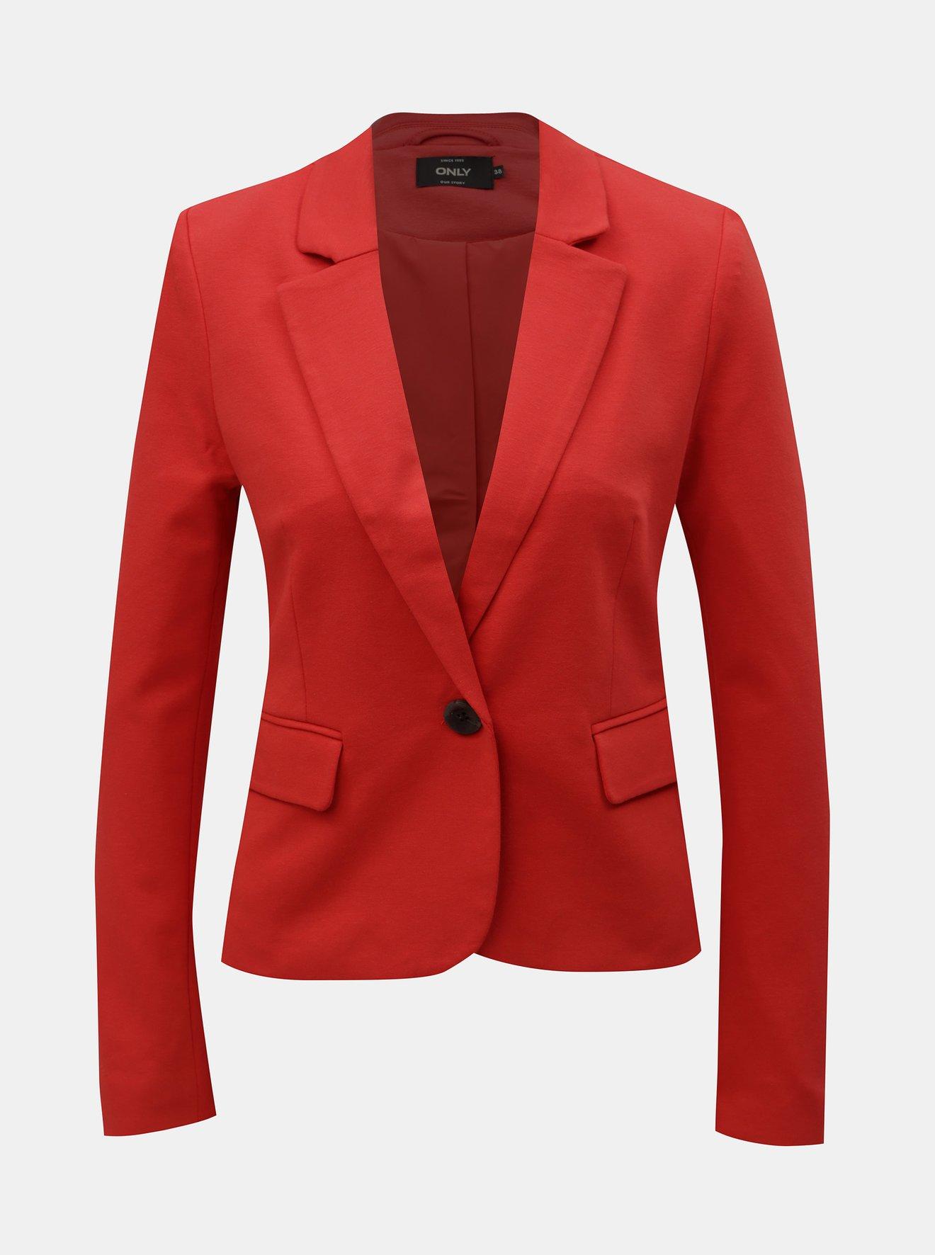 Červené sako s kapsami ONLY Kira
