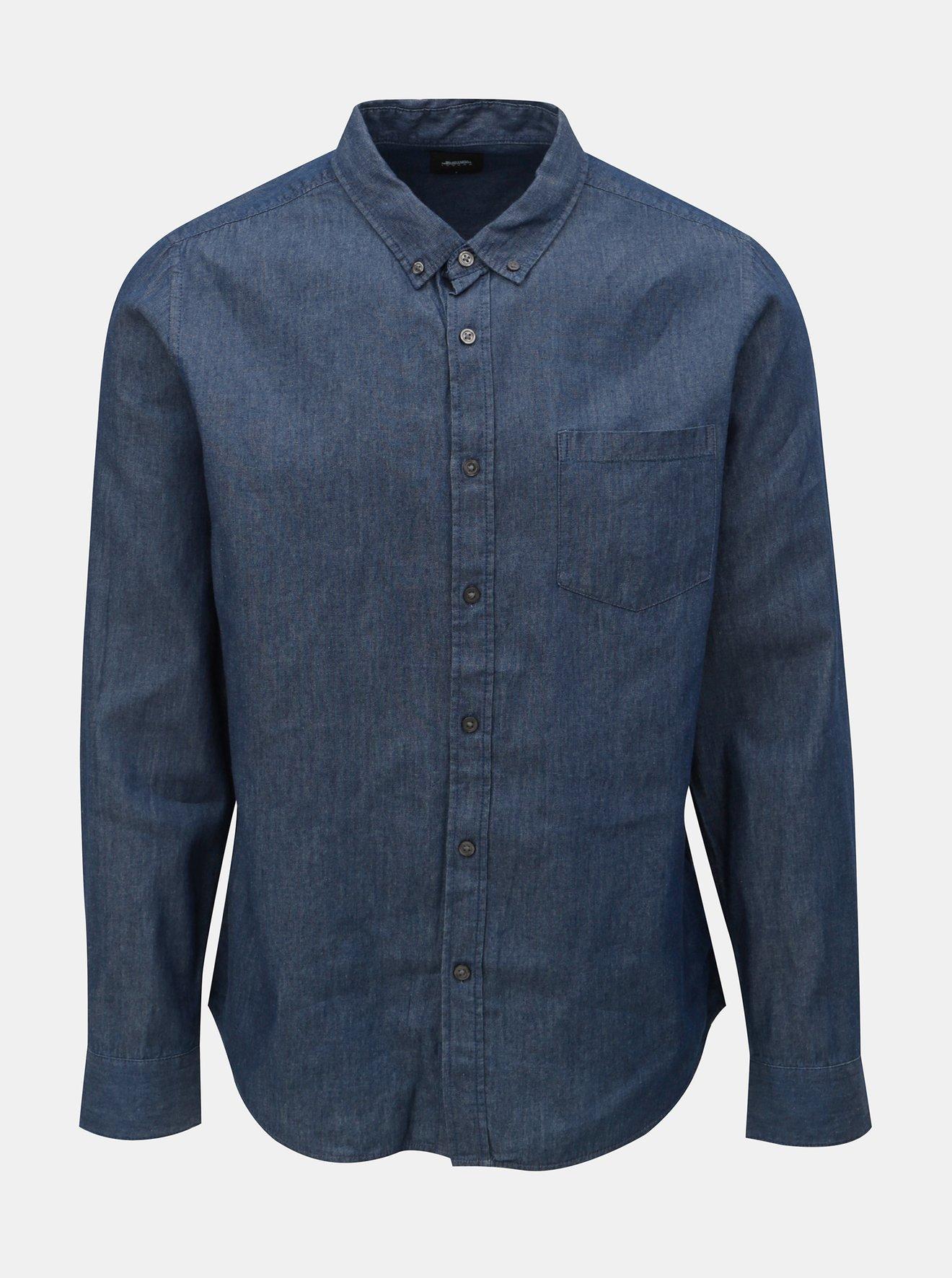 Modrá džínová košile Burton Menswear London