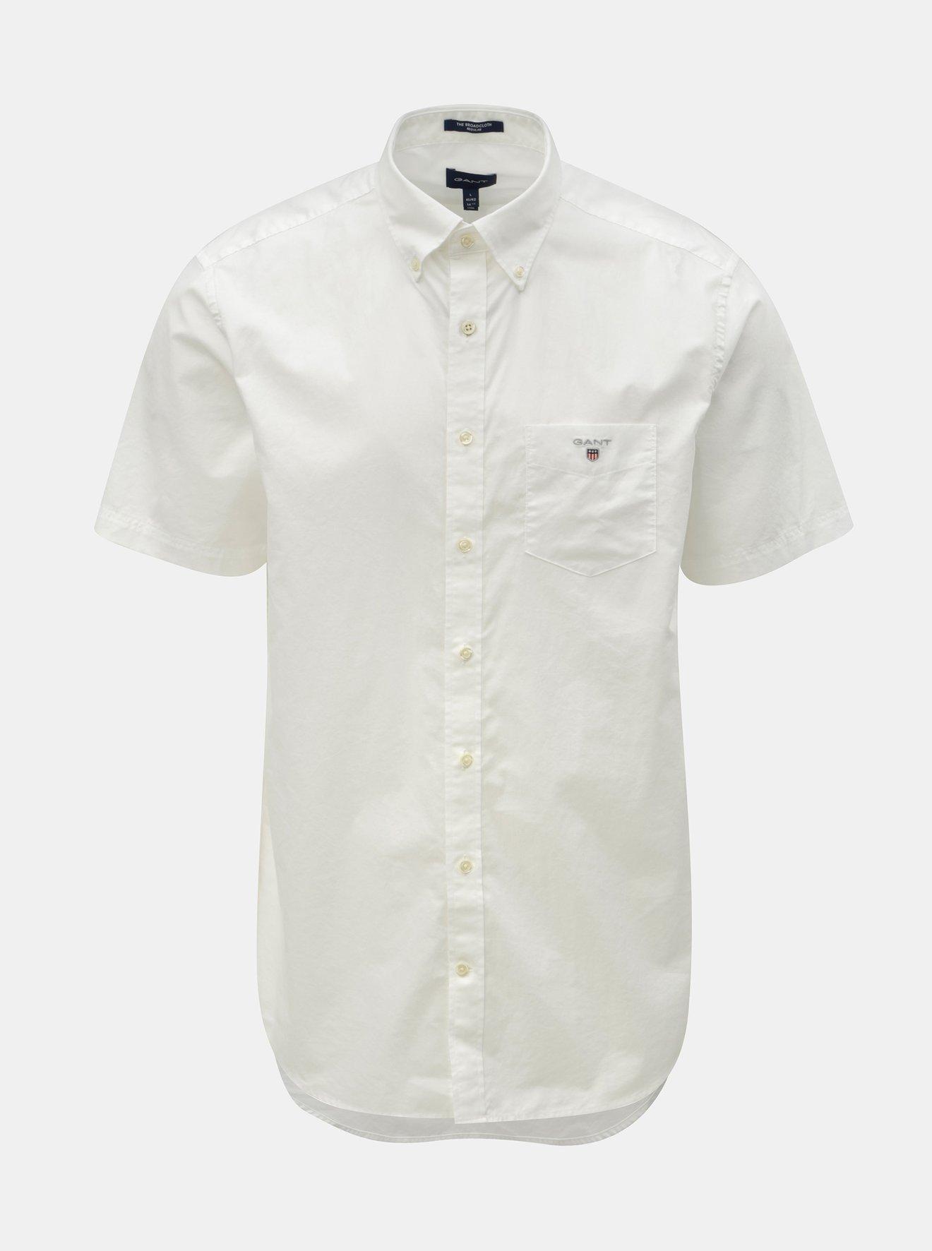 ba73d14d690b Bílá pánská regular fit košile GANT