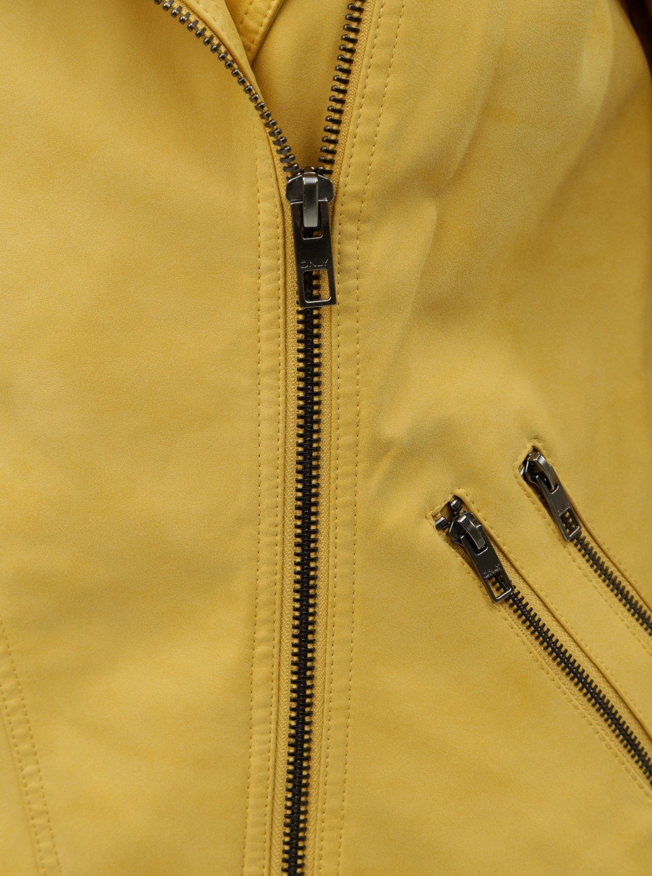 Žlutý koženkový křivák ONLY Ava