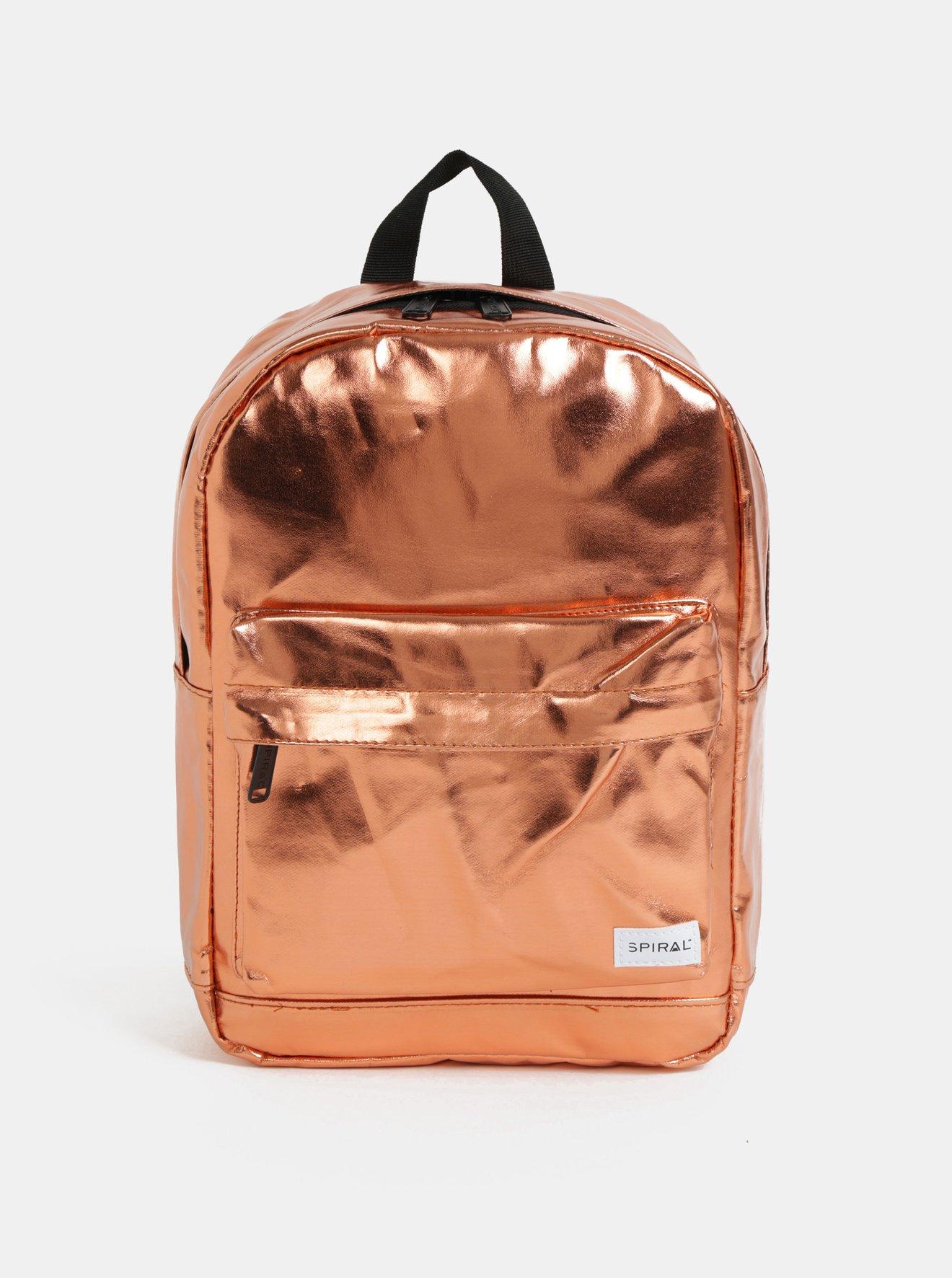 Oranžový dámský lesklý batoh Spiral Mini 9 l