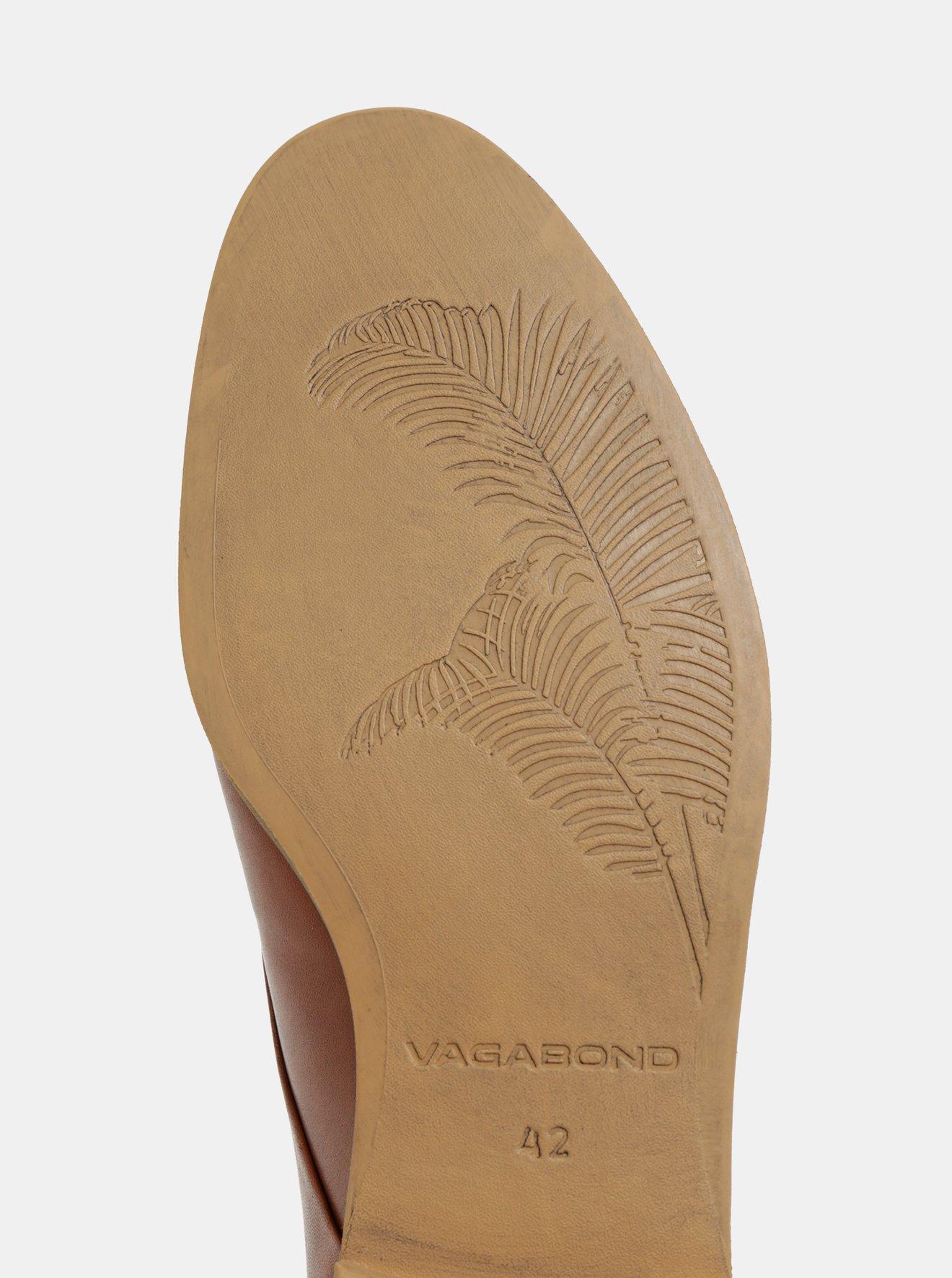 Hnědé pánské kožené polobotky Vagabond Linhope