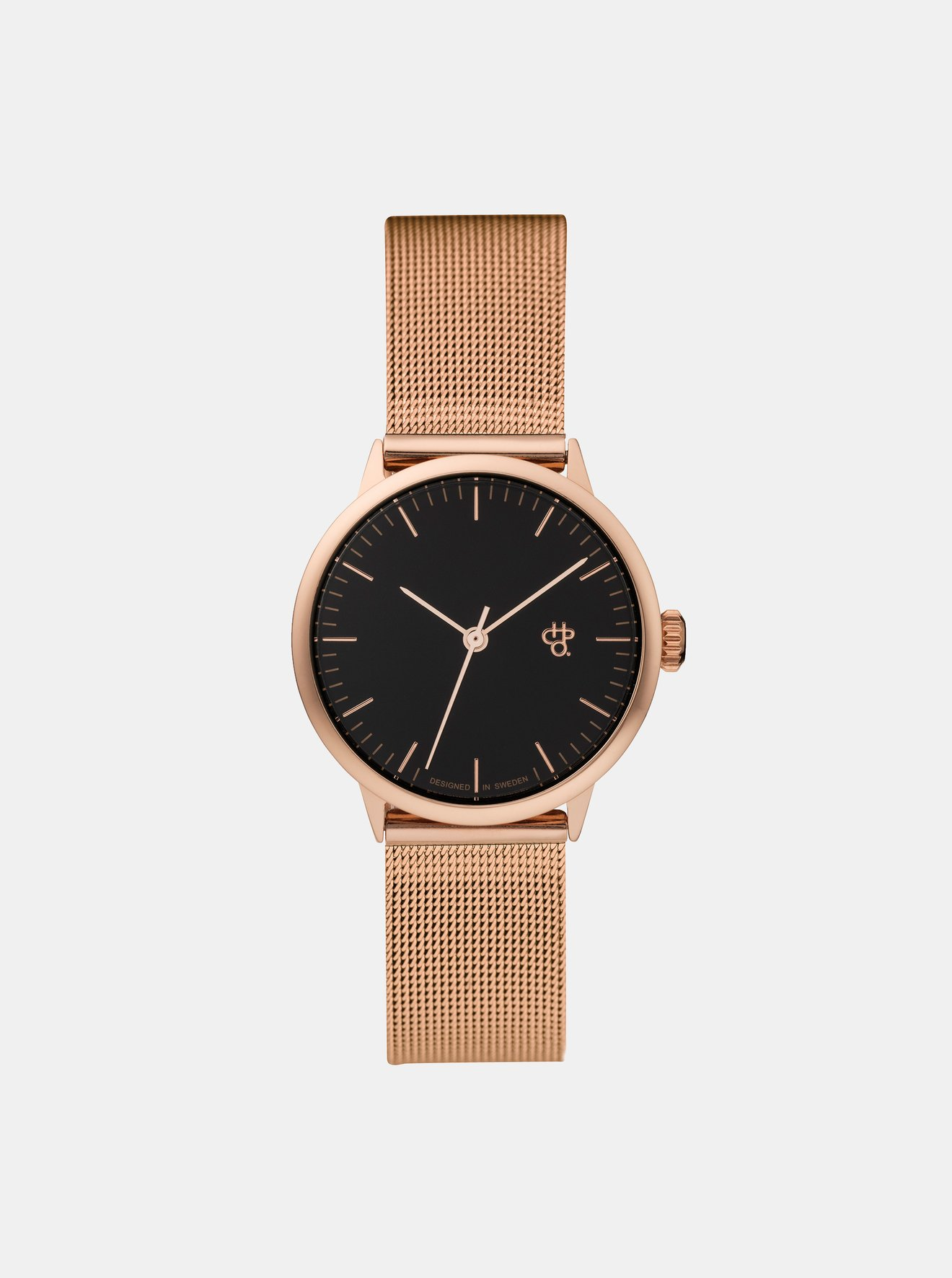 000ebd320 Dámské hodinky s kovovým páskem v růžovozlaté barvě CHPO Nando mini