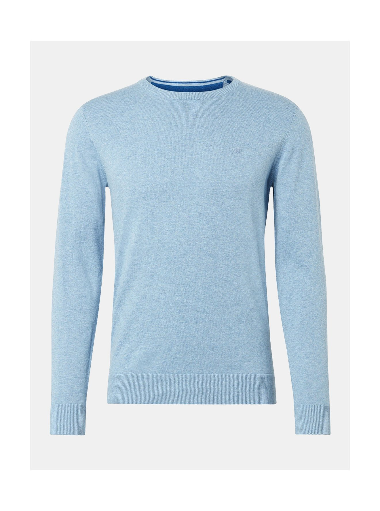 d86a668e9e92 Světle modrý pánský svetr Tom Tailor - SLEVA!