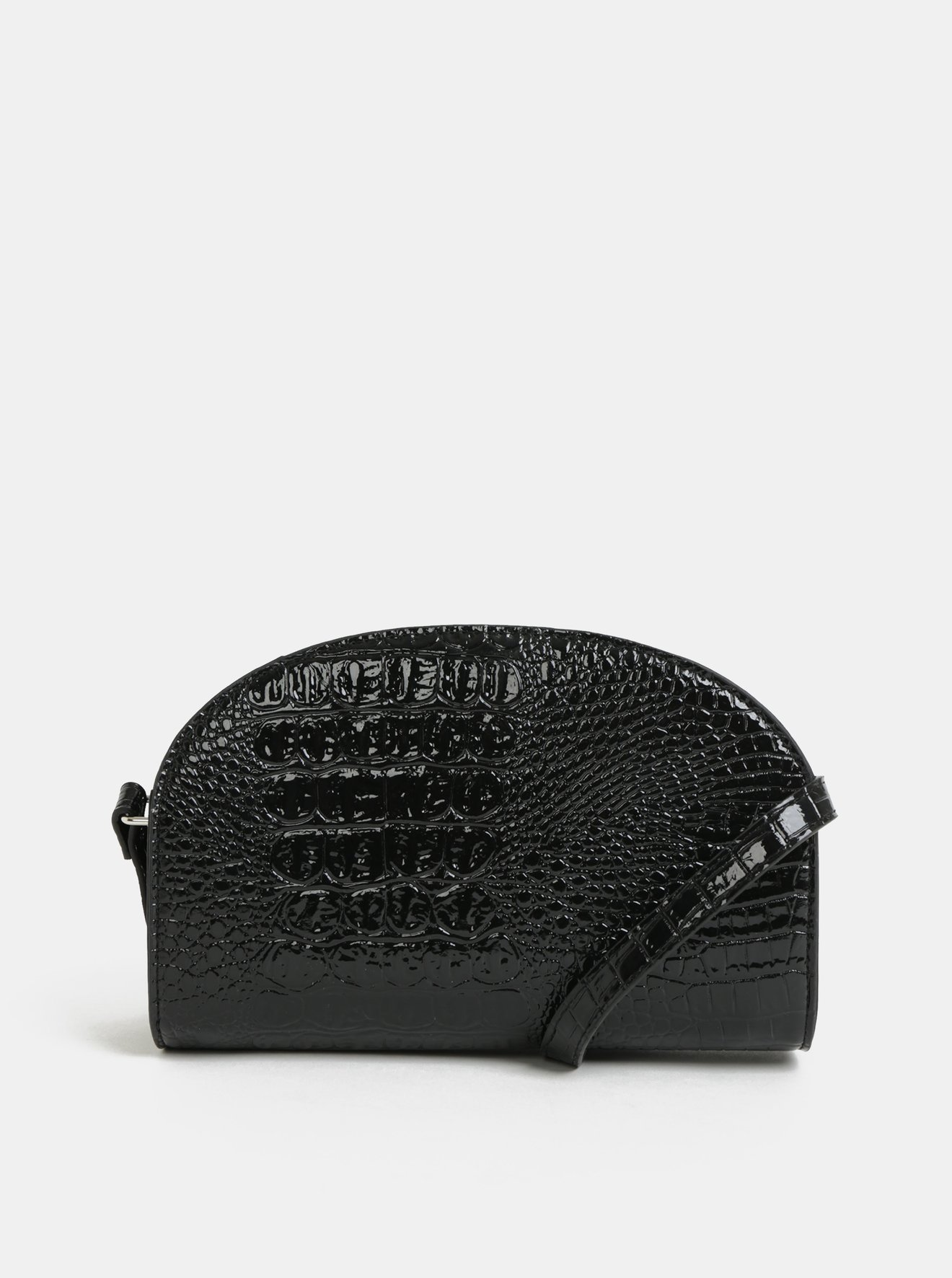 c9237ca600 Černá crossbody kabelka s hadím vzorem Pieces Fanny - SLEVA ...