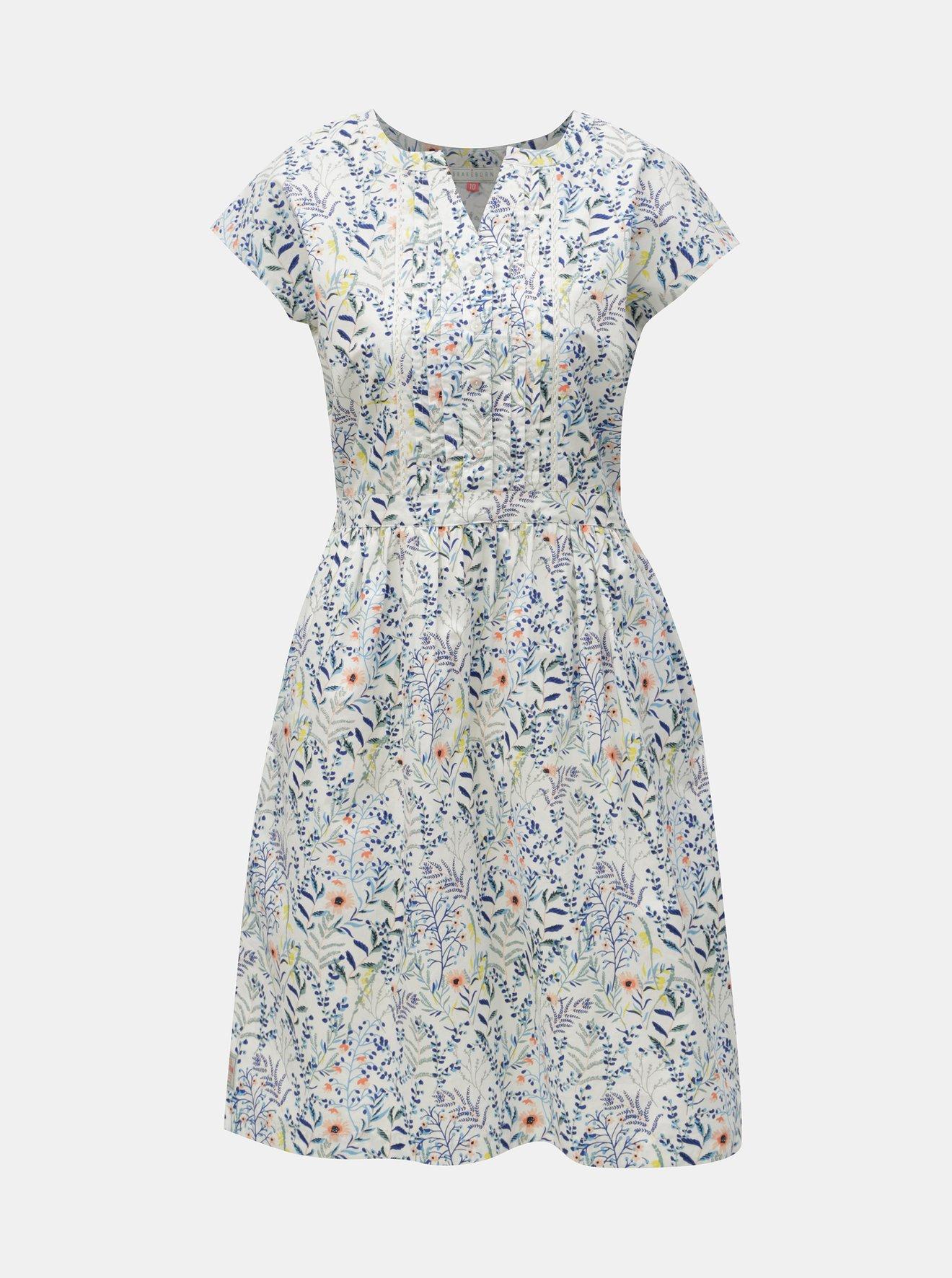 Bílé květované šaty Brakeburn Botanical