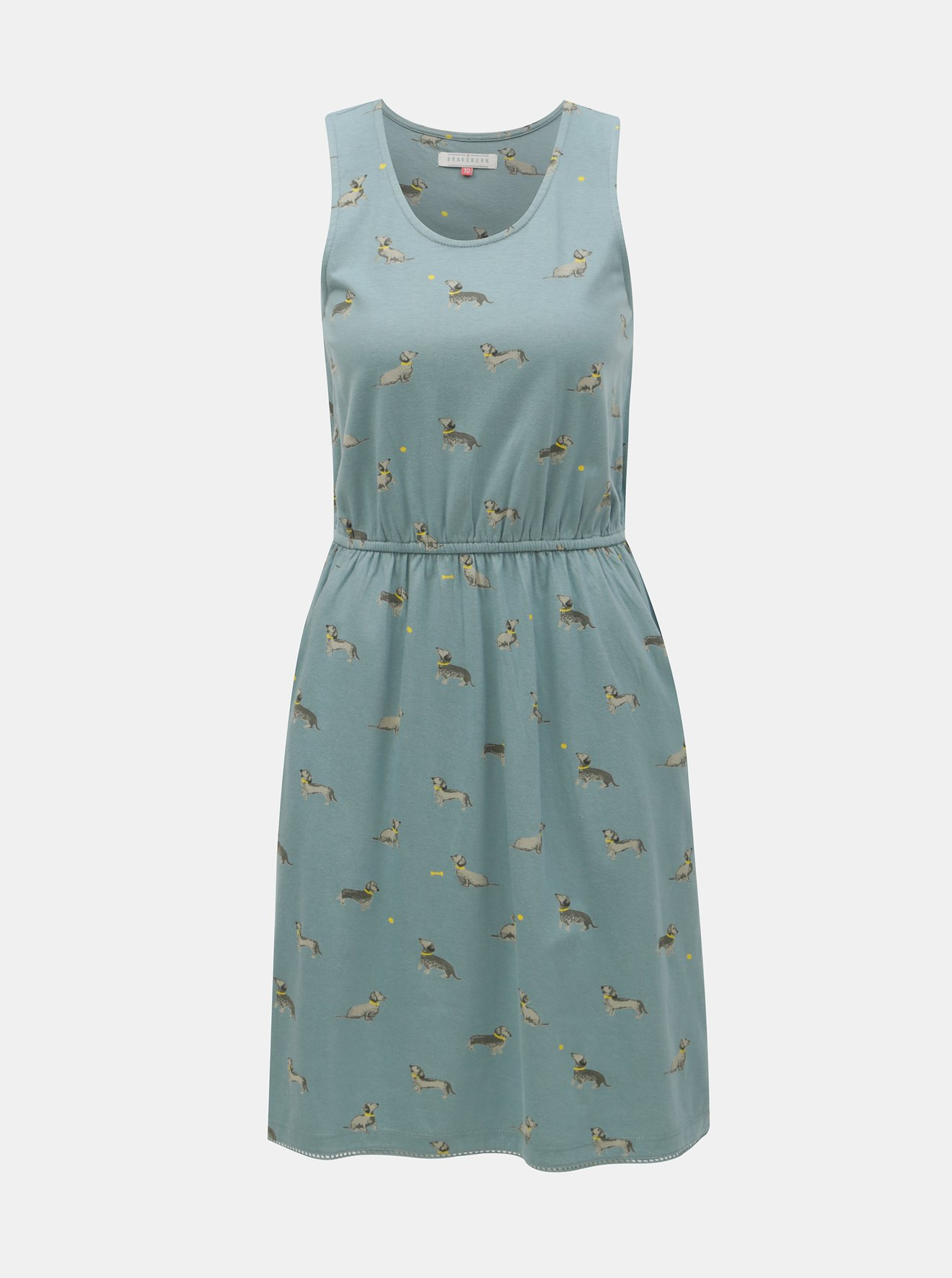 Modré vzorované šaty Brakeburn Sausage dog