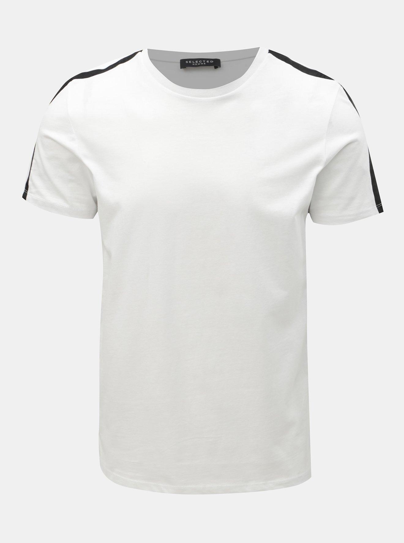 fdc029ff56f0 Bílé tričko Selected Homme Rib - SLEVA!
