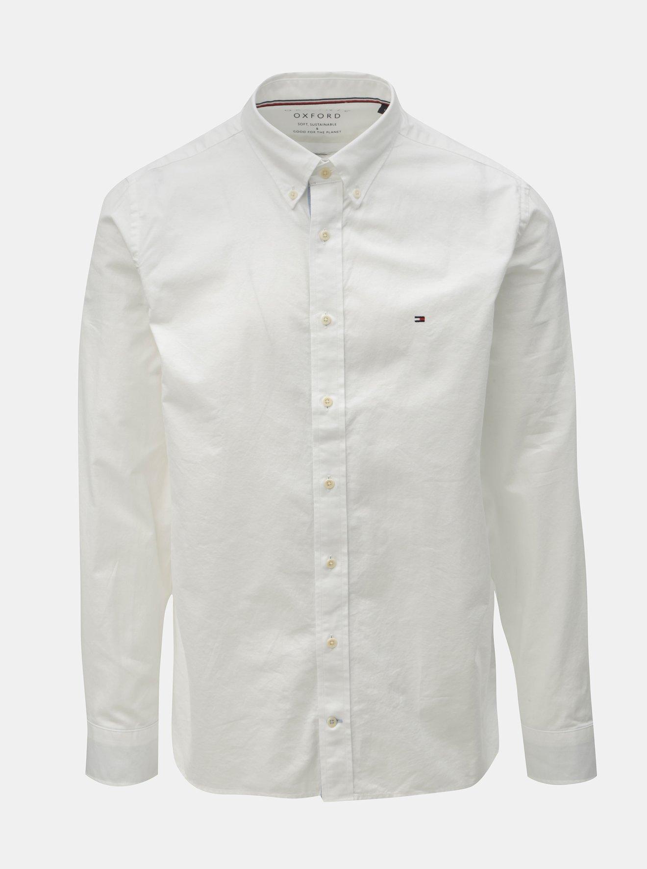 cdabbb30837d Bílá pánská regular fit košile Tommy Hilfiger